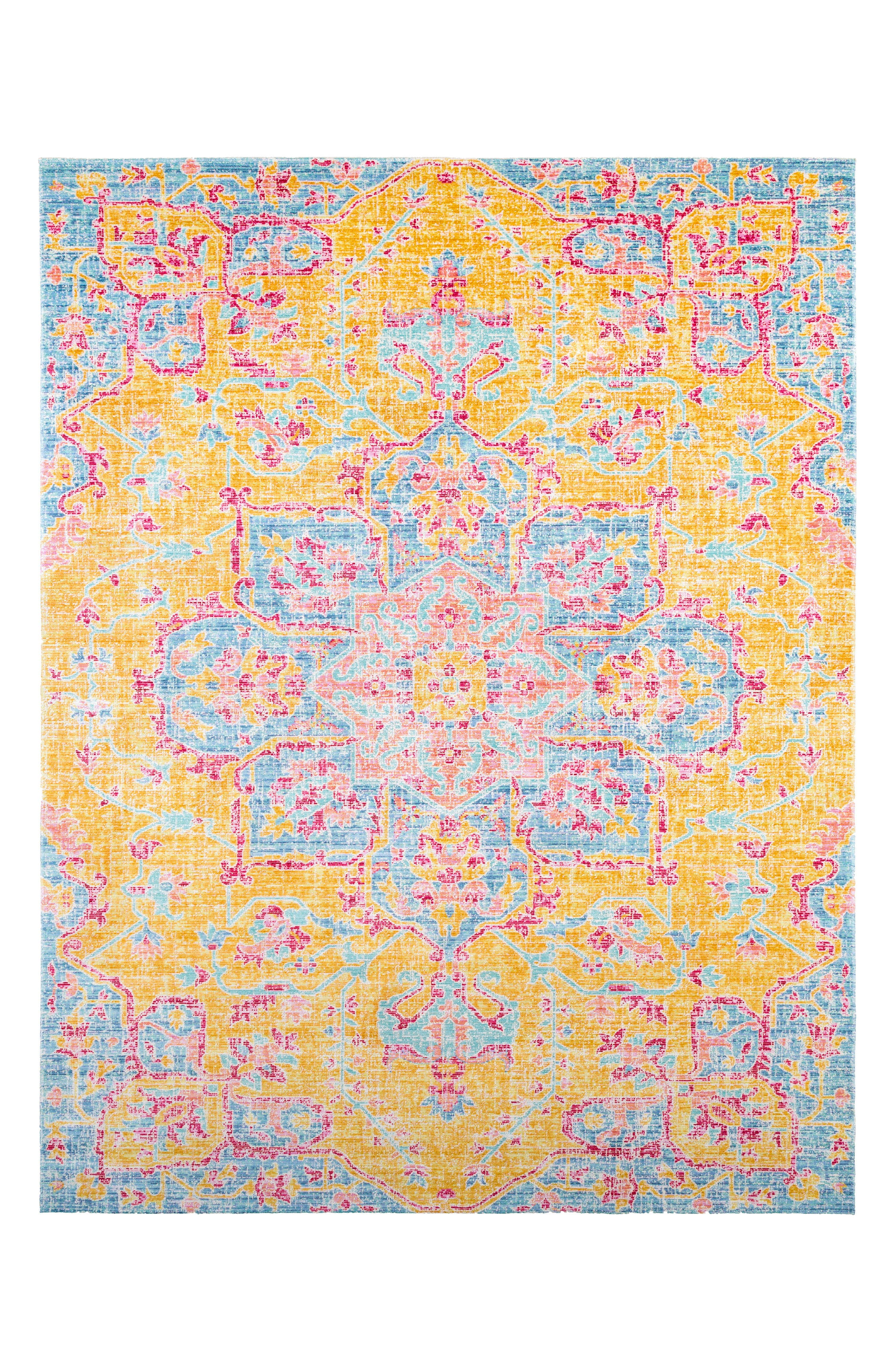 Seasoned Treasures Area Rug,                             Main thumbnail 1, color,                             YELLOW