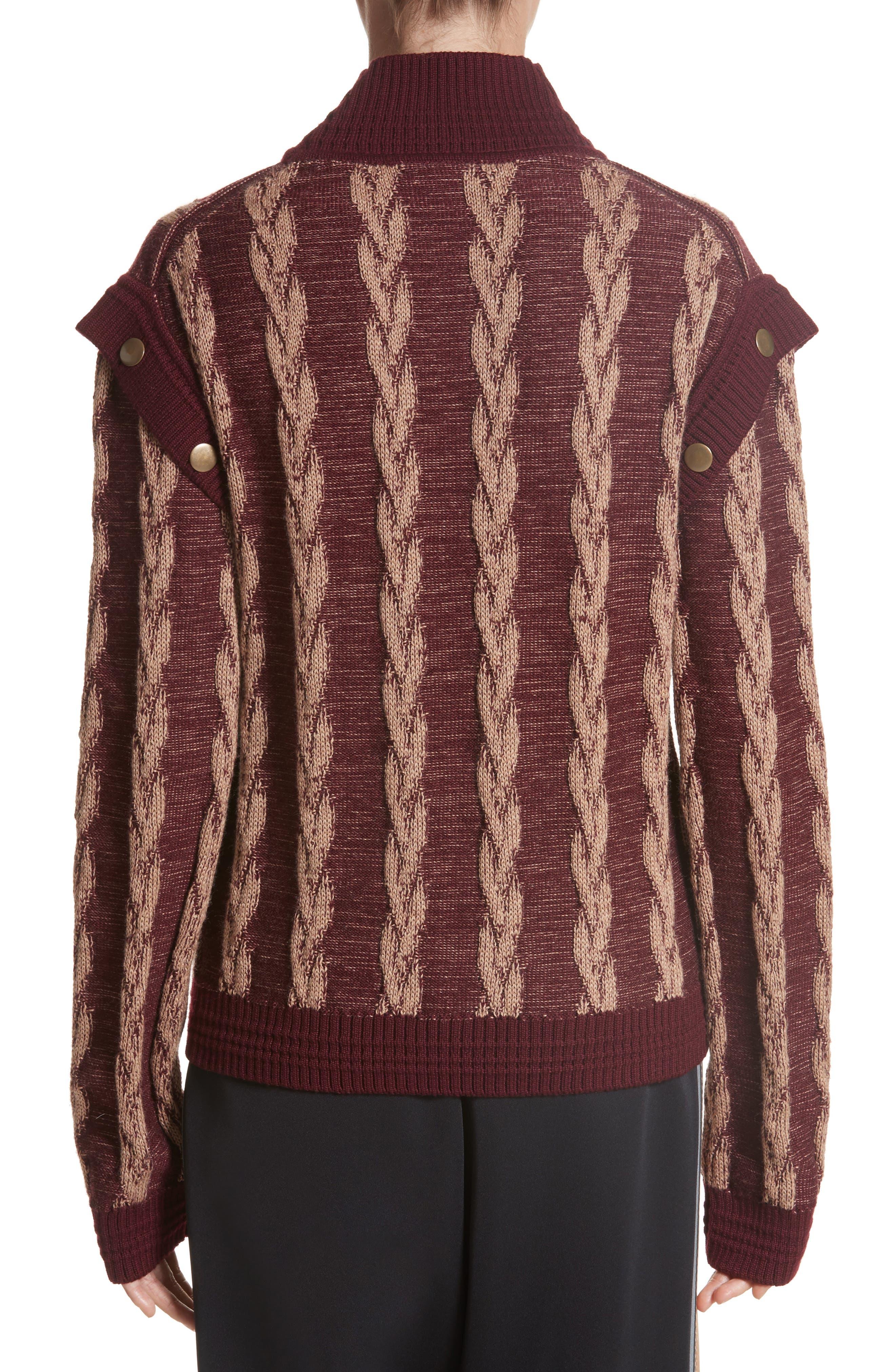 Cable Knit Turtleneck Sweater,                             Alternate thumbnail 2, color,                             930