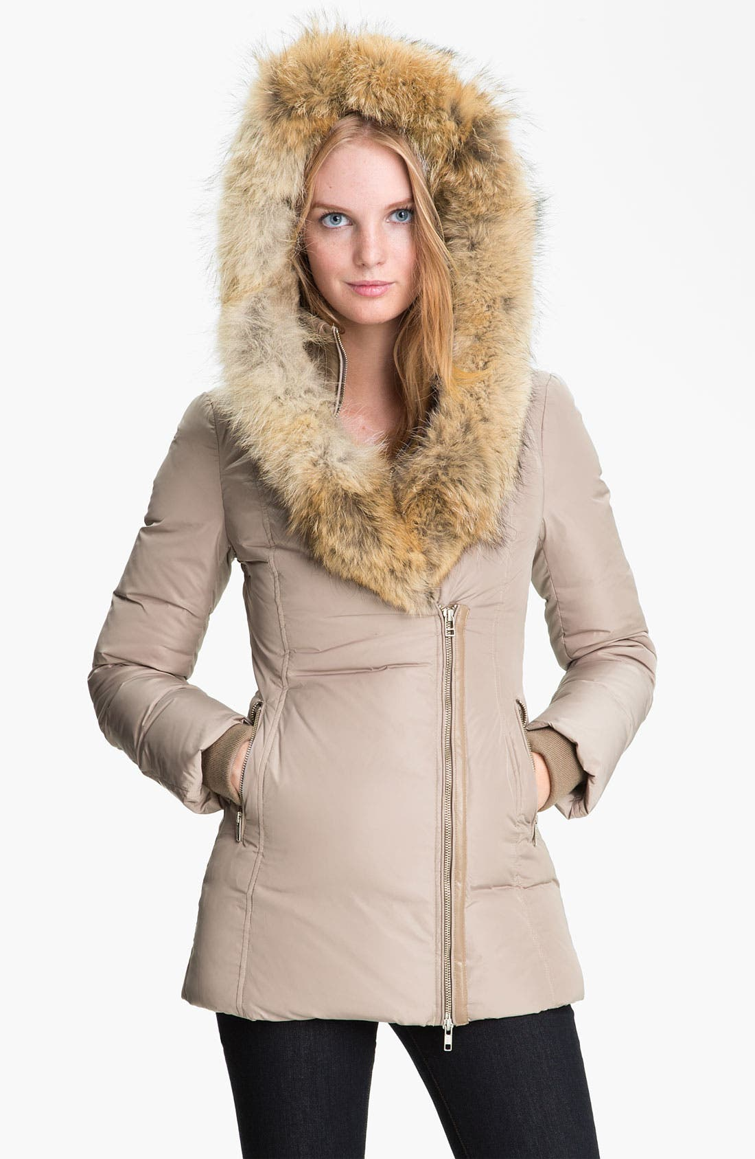 MACKAGE,                             'Akiva' Genuine Fox & Rabbit Fur Trim Down Coat,                             Alternate thumbnail 4, color,                             250