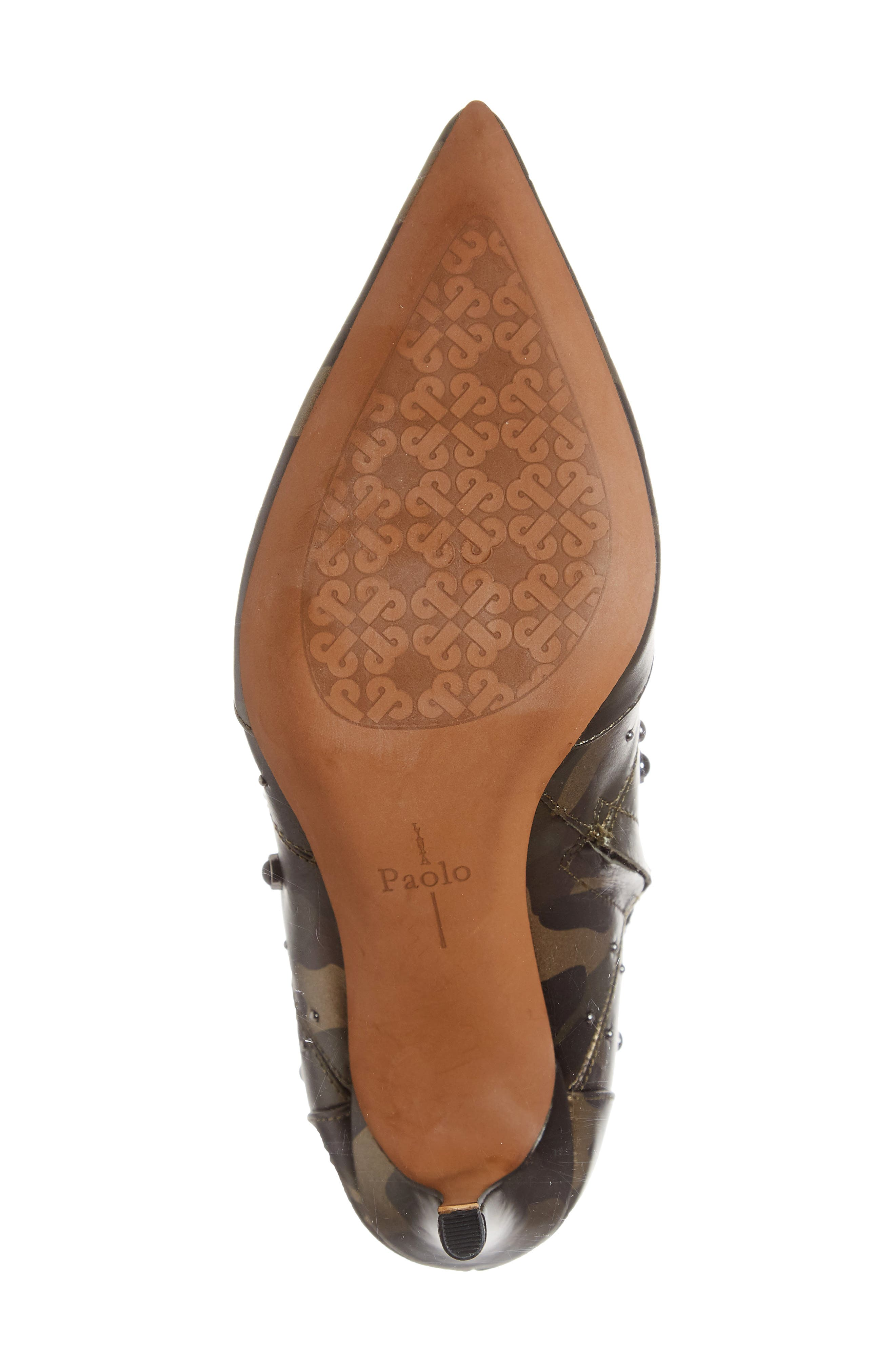 Nara Studded Bootie,                             Alternate thumbnail 6, color,                             CAMO LEATHER