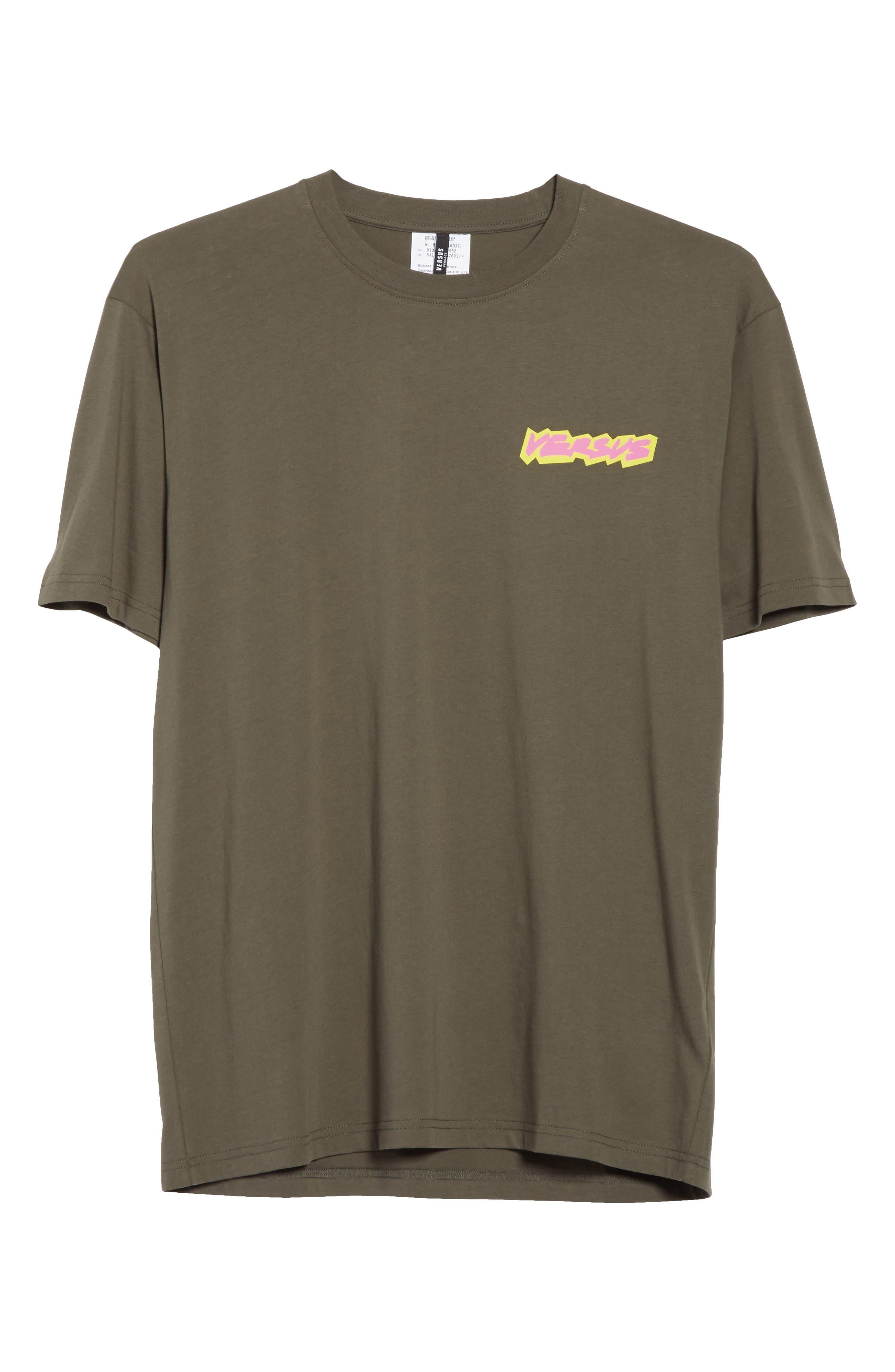 VERSUS by Versace Logo Graphic T-Shirt,                             Alternate thumbnail 6, color,                             344