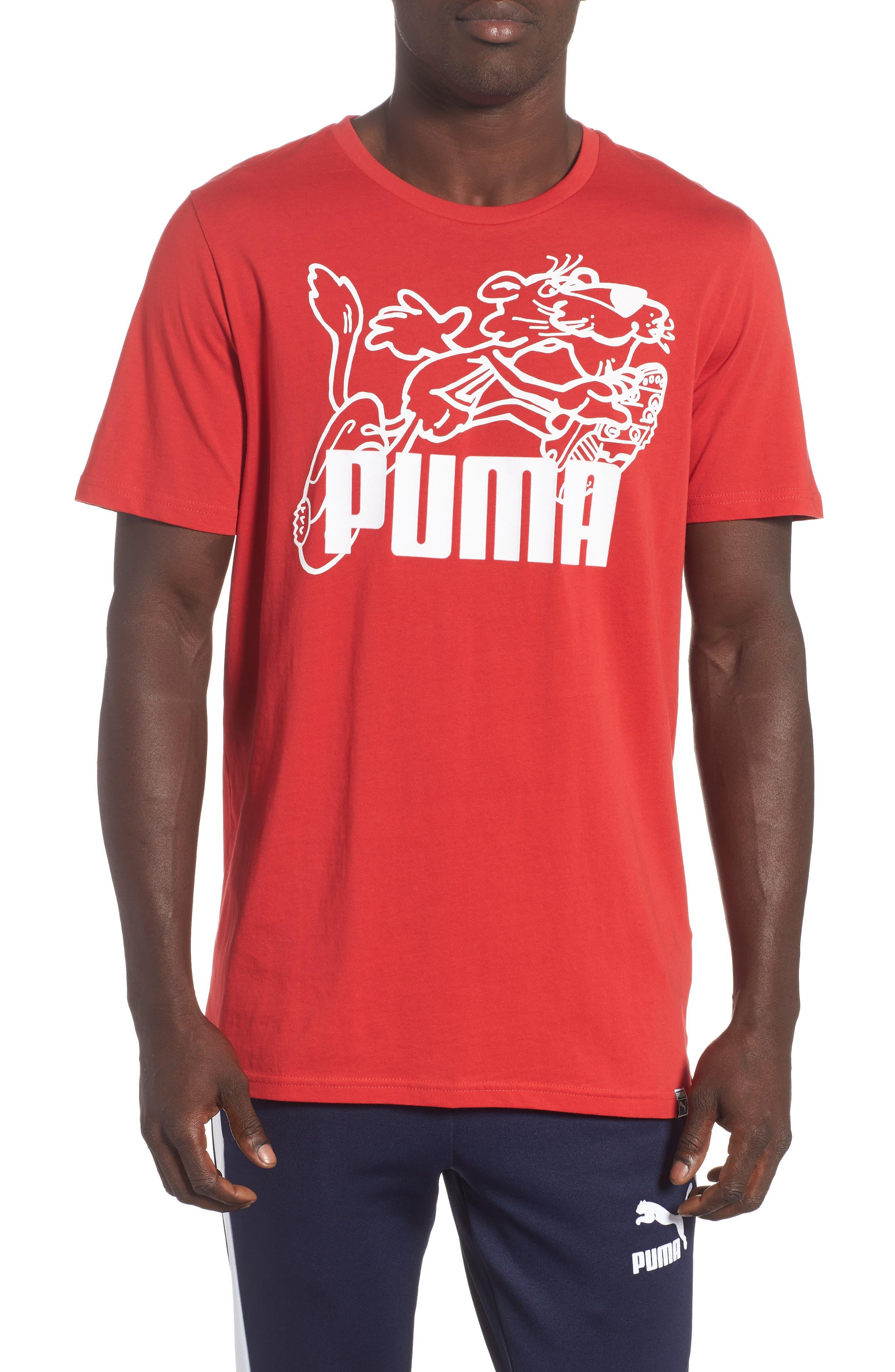 Puma Retro Sports T-Shirt, Red