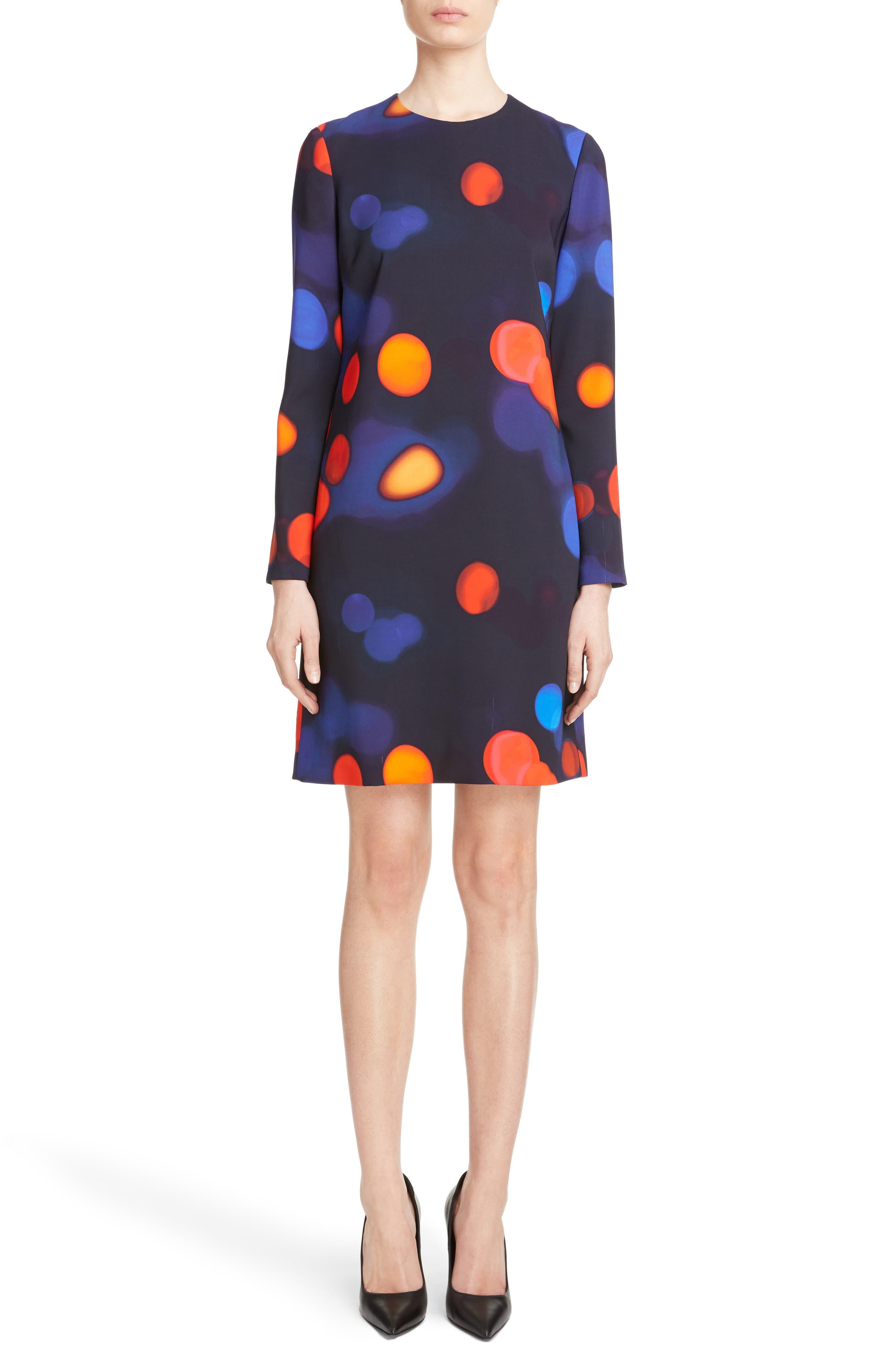 Print Shift Dress,                             Main thumbnail 1, color,                             400
