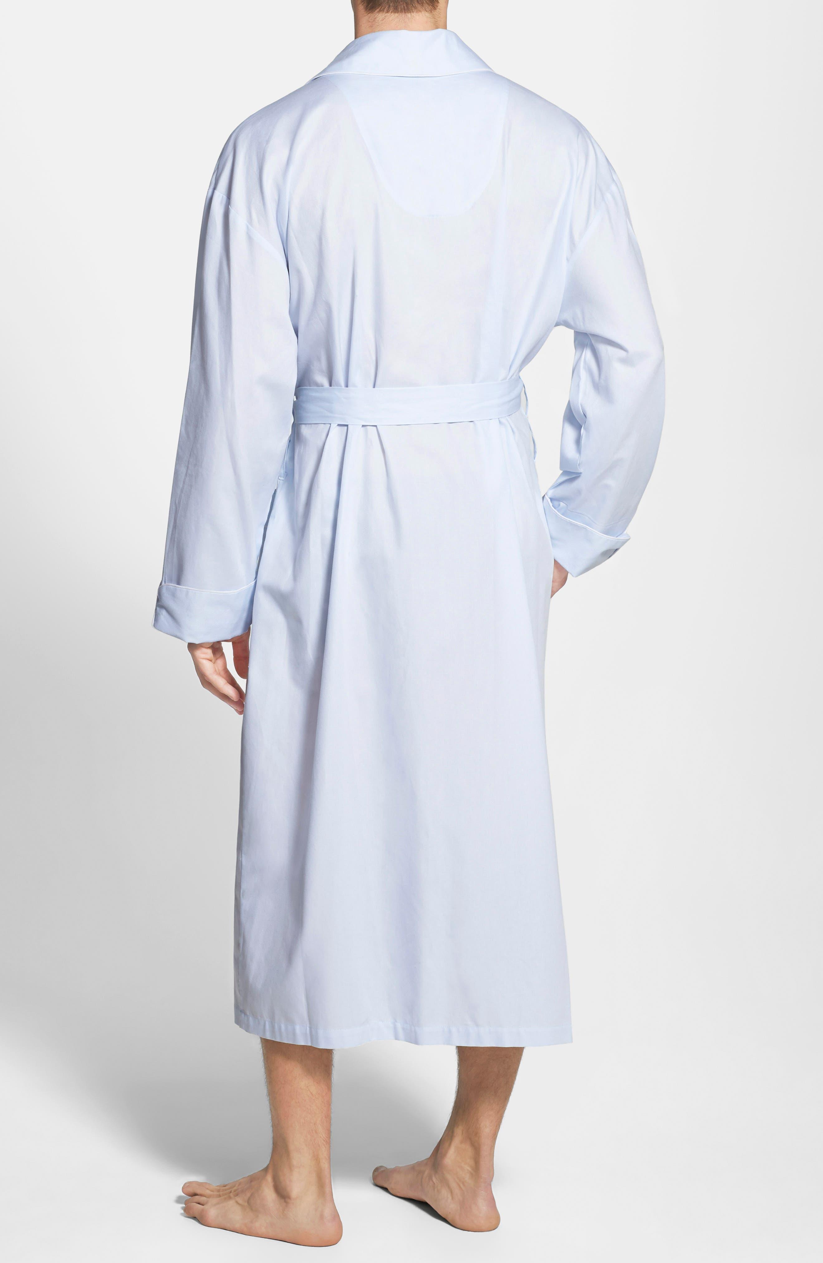 MAJESTIC INTERNATIONAL,                             'Signature' Cotton Robe,                             Alternate thumbnail 4, color,                             SURF