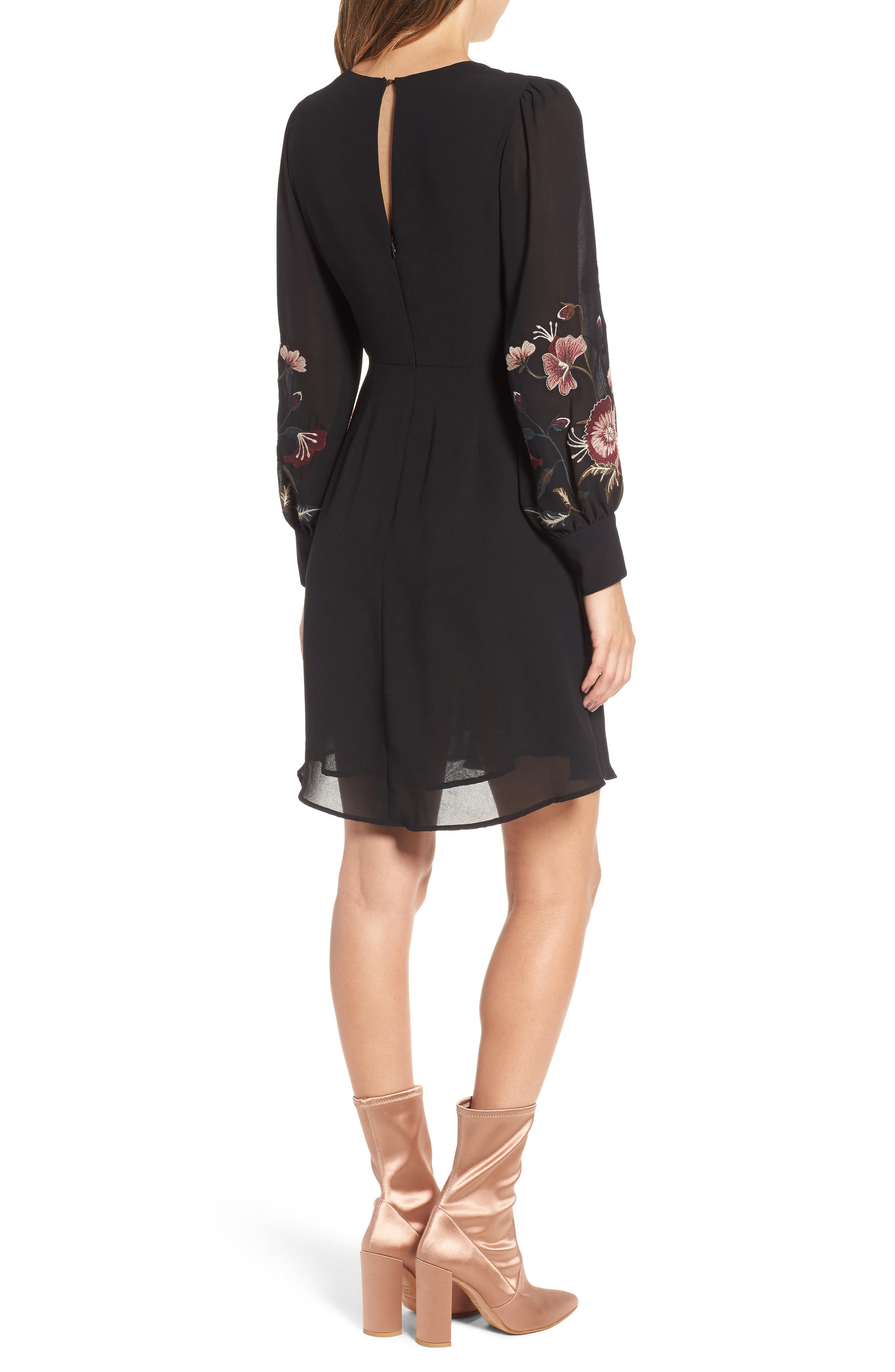 Holly Fit & Flare Dress,                             Alternate thumbnail 2, color,                             001