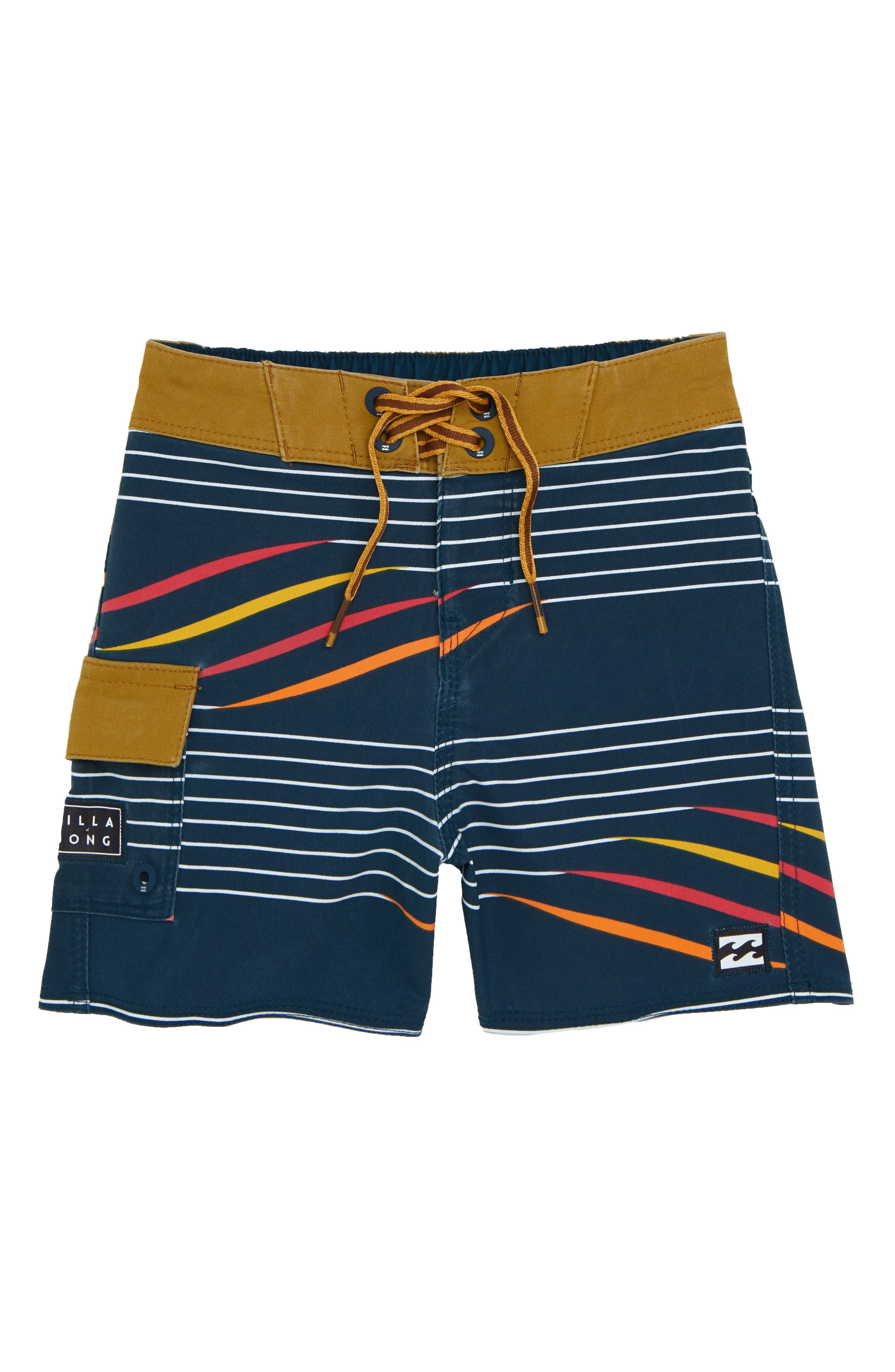 Sundays X Stripe Board Shorts,                         Main,                         color, NAVY