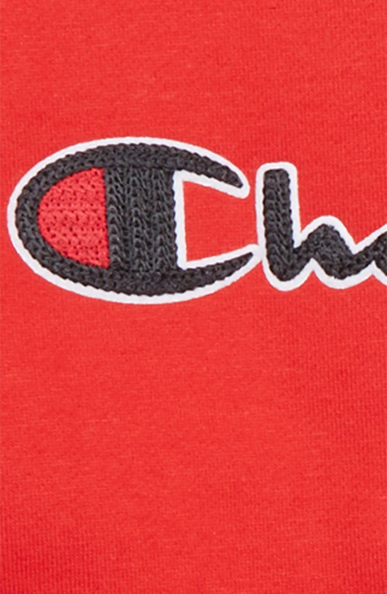 Logo Crewneck Sweatshirt,                             Alternate thumbnail 2, color,                             SCARLET