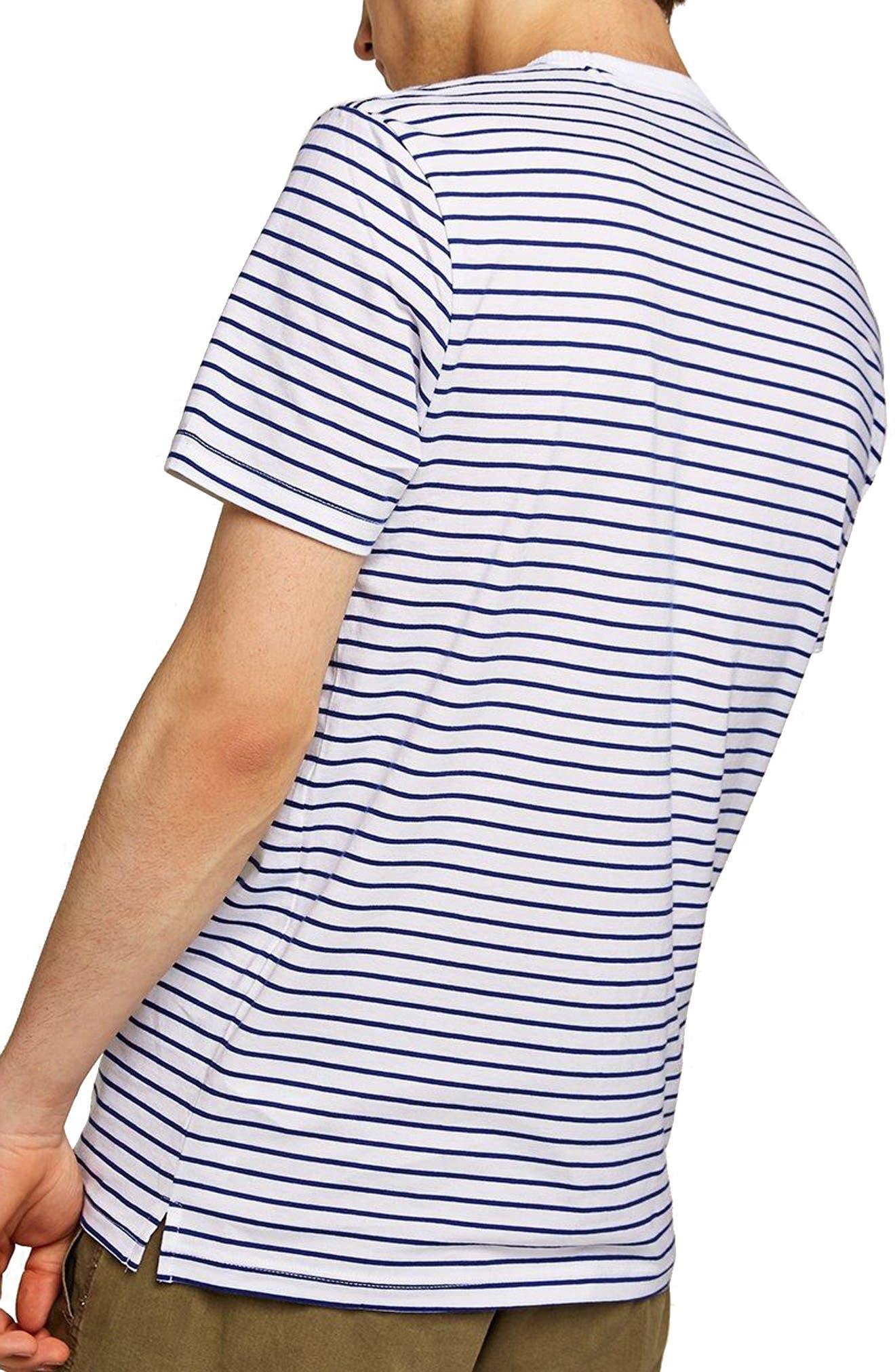 Slim Fit Stripe T-Shirt,                             Alternate thumbnail 2, color,                             DARK BLUE MULTI