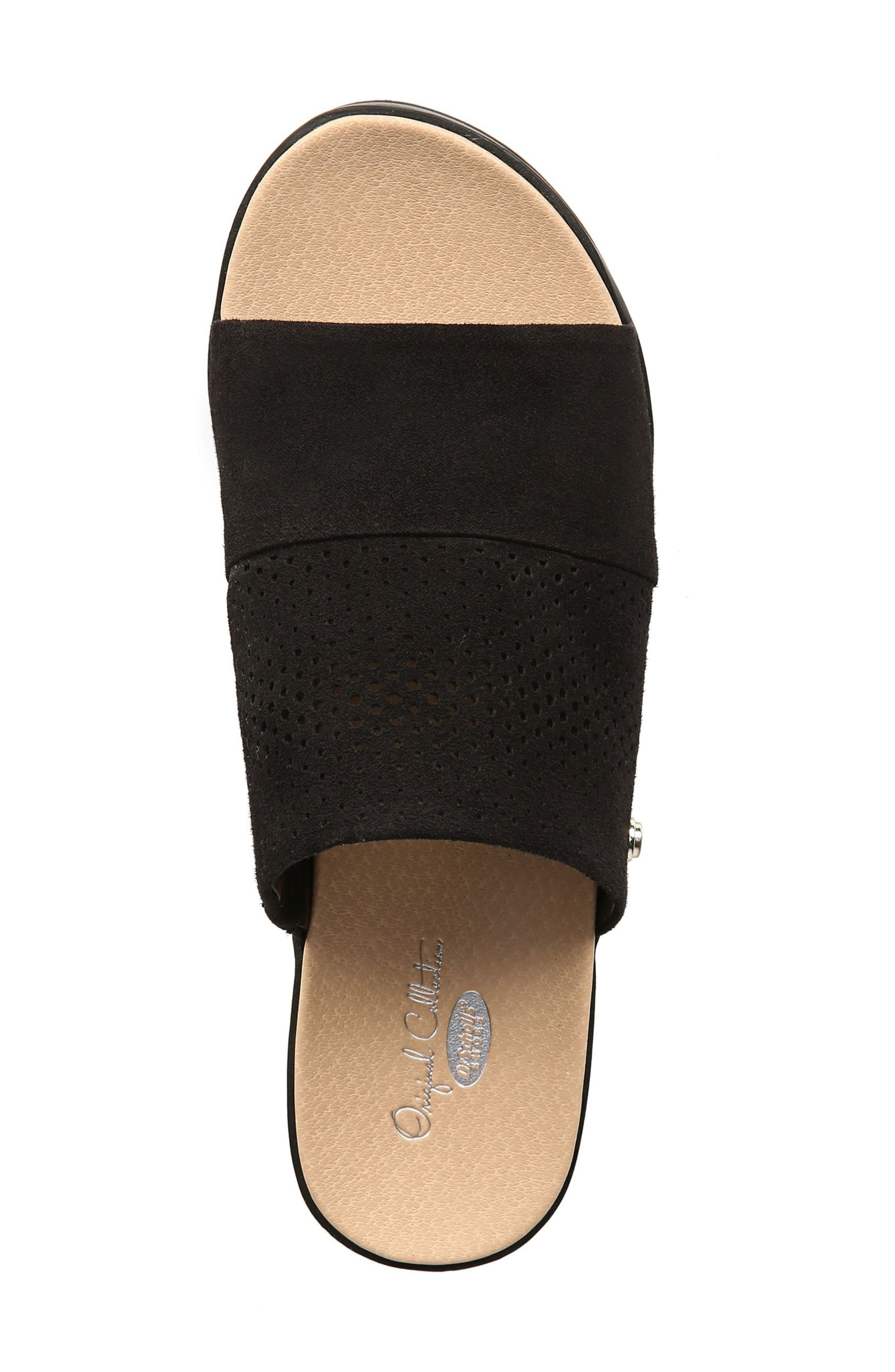 Collins Platform Sandal,                             Alternate thumbnail 5, color,                             BLACK FABRIC