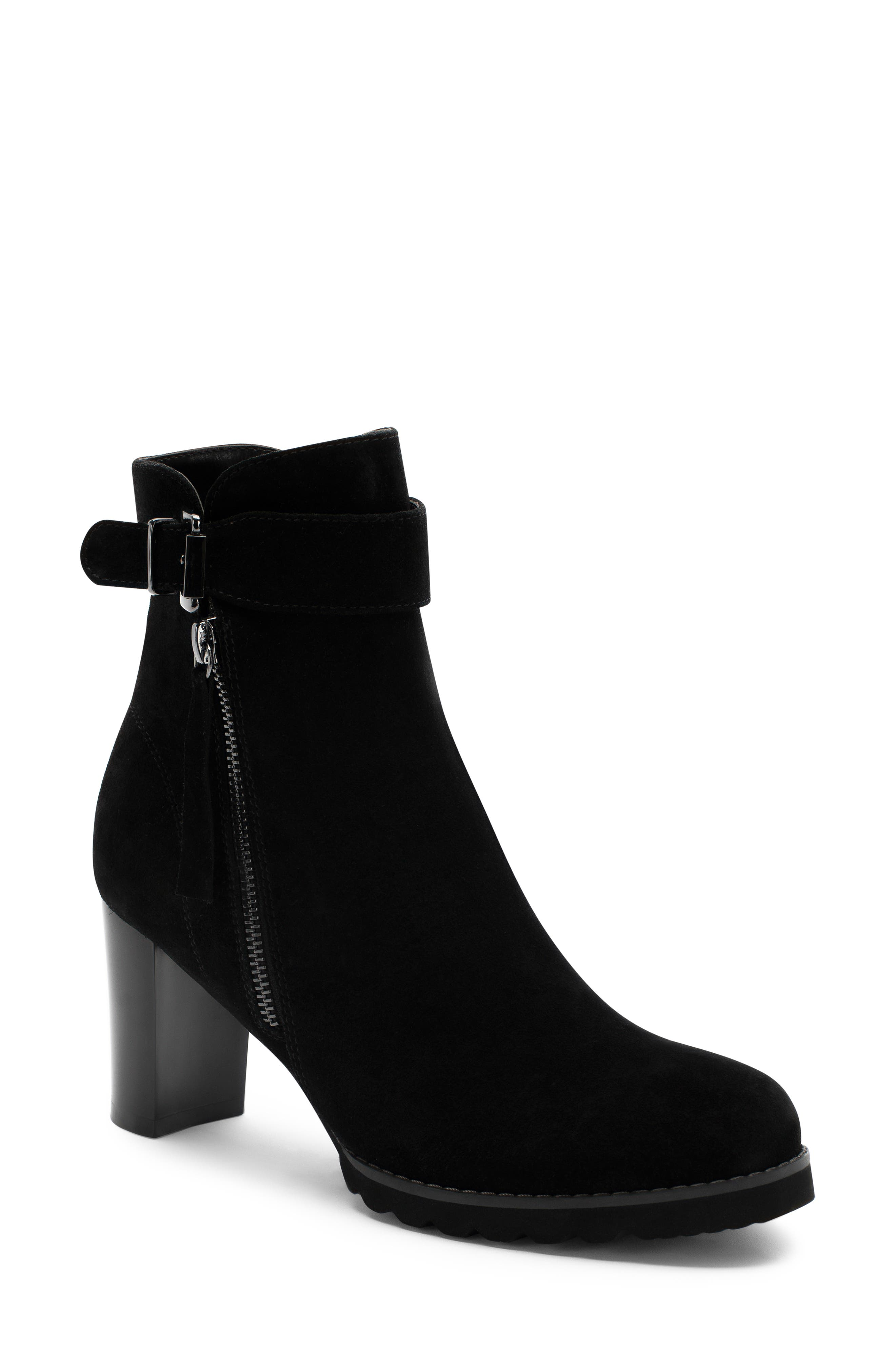 Anic Waterproof Ankle Boot,                             Main thumbnail 1, color,                             BLACK SUEDE