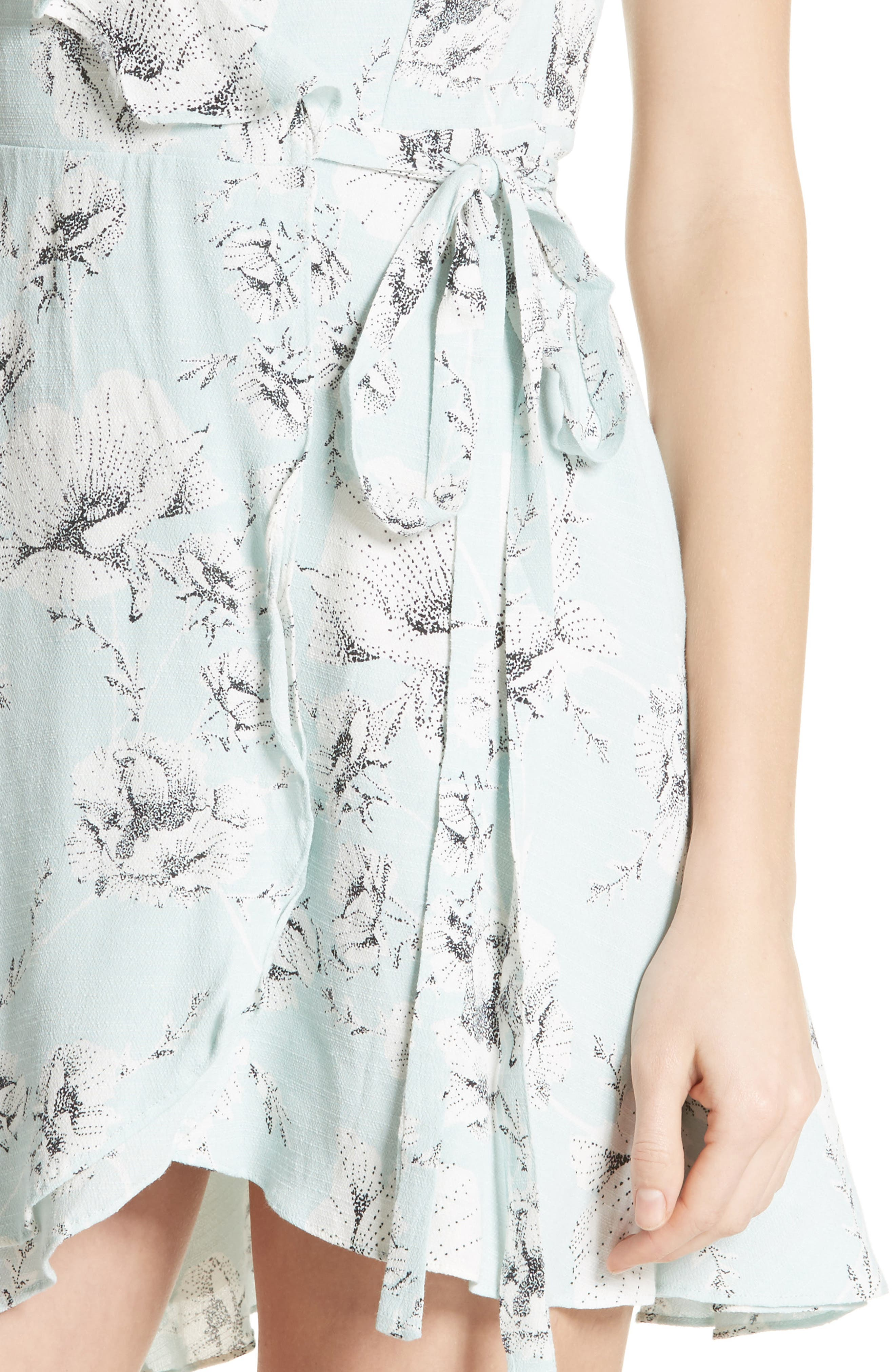 French Quarter Print Wrap Minidress,                             Alternate thumbnail 14, color,