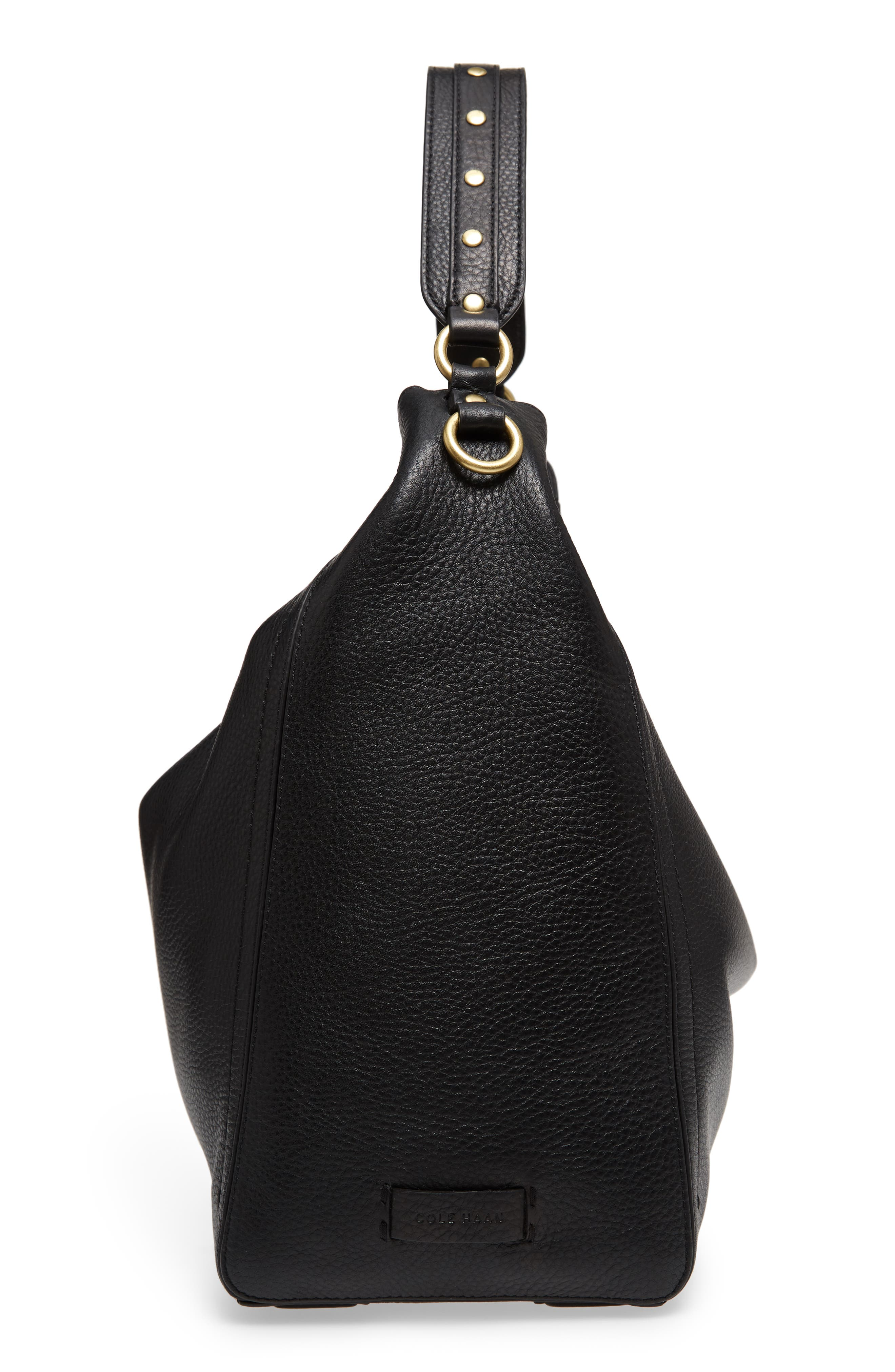 Cassidy RFID Pebbled Leather Bucket Bag,                             Alternate thumbnail 5, color,                             001