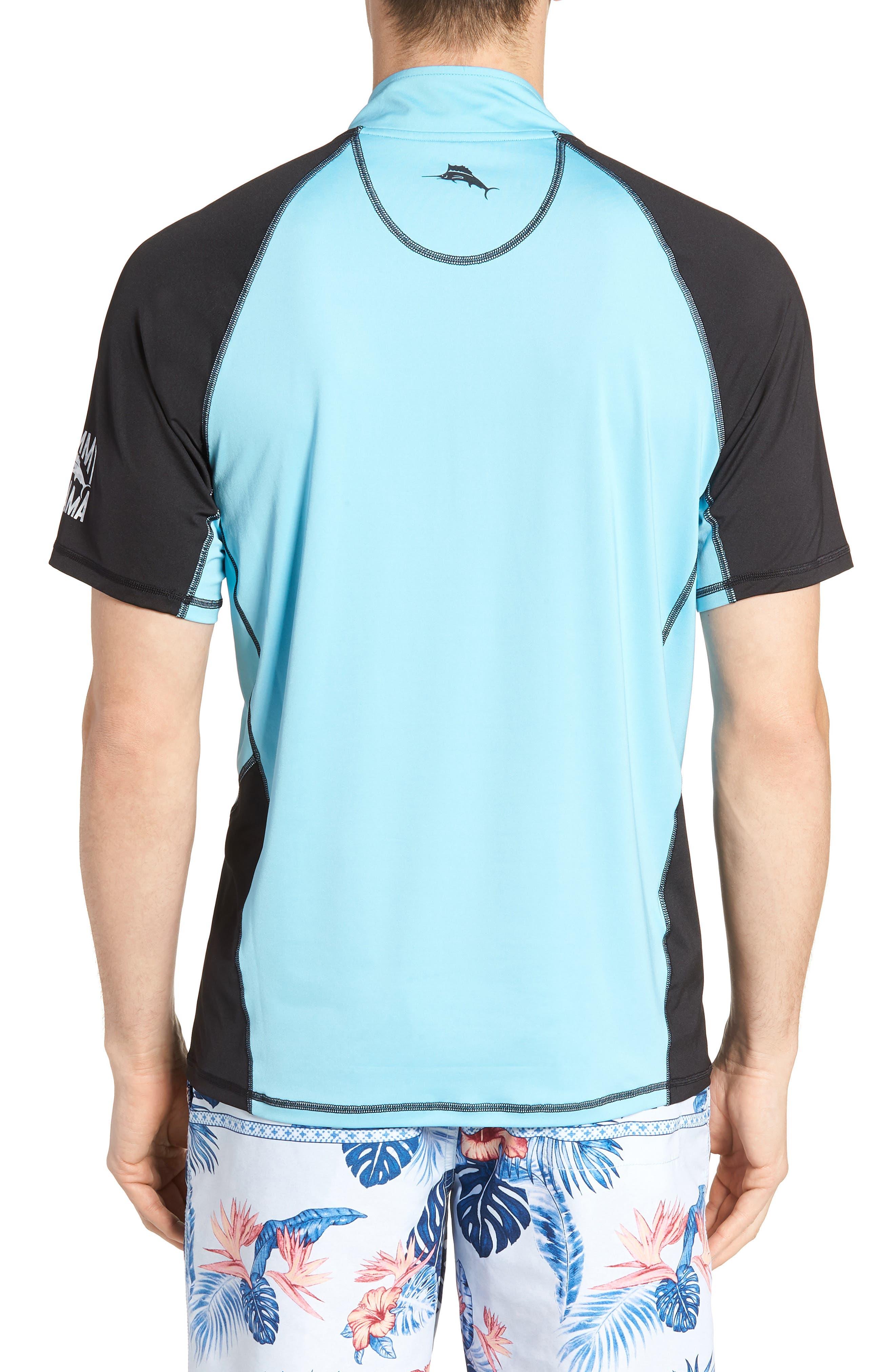 IslandActive<sup>™</sup> Colorblock Beach Pro Rashguard T-Shirt,                             Alternate thumbnail 2, color,                             400