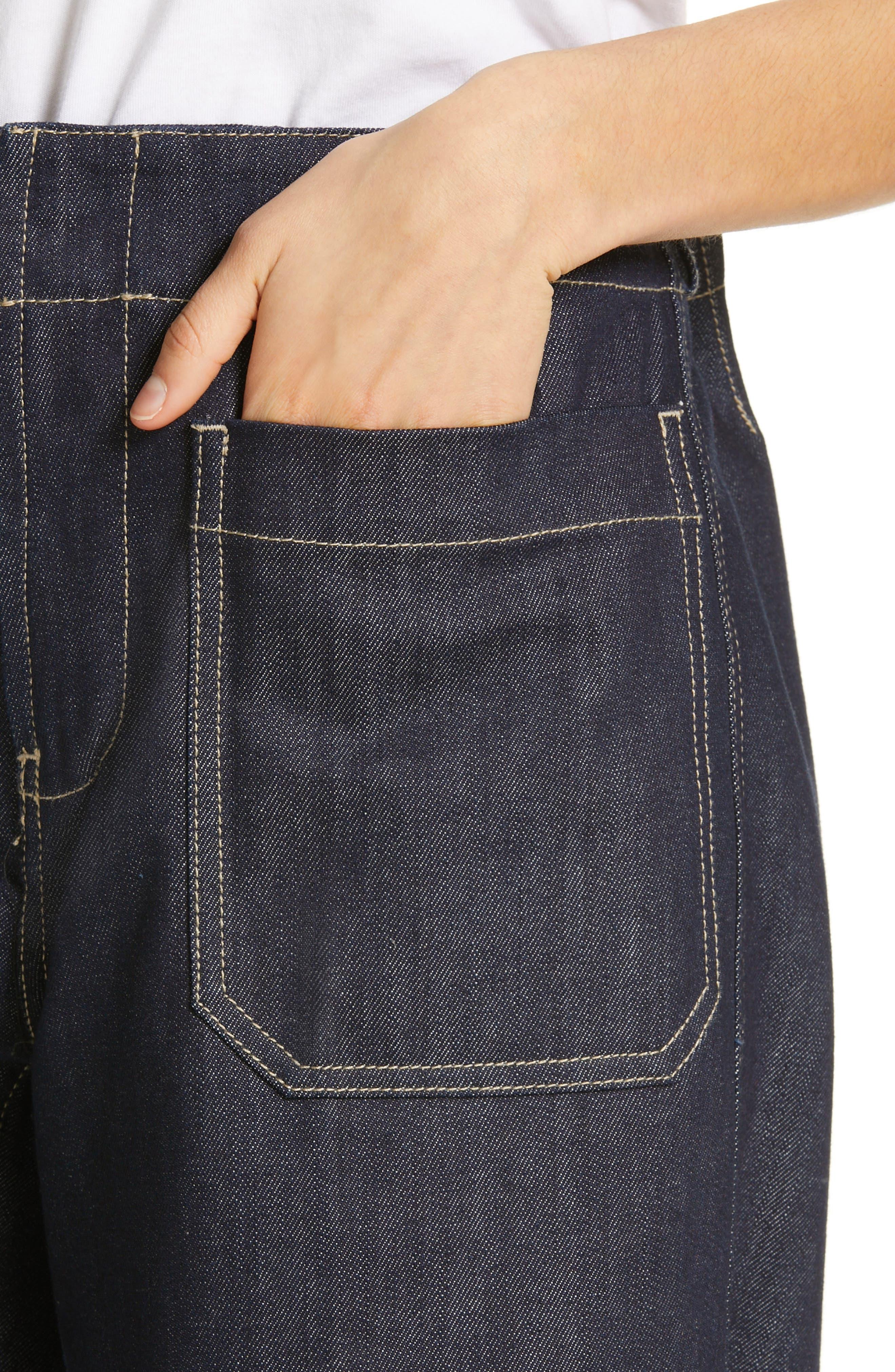 SOFIE D'HOORE,                             Wide Leg Crop Jeans,                             Alternate thumbnail 4, color,                             RAW