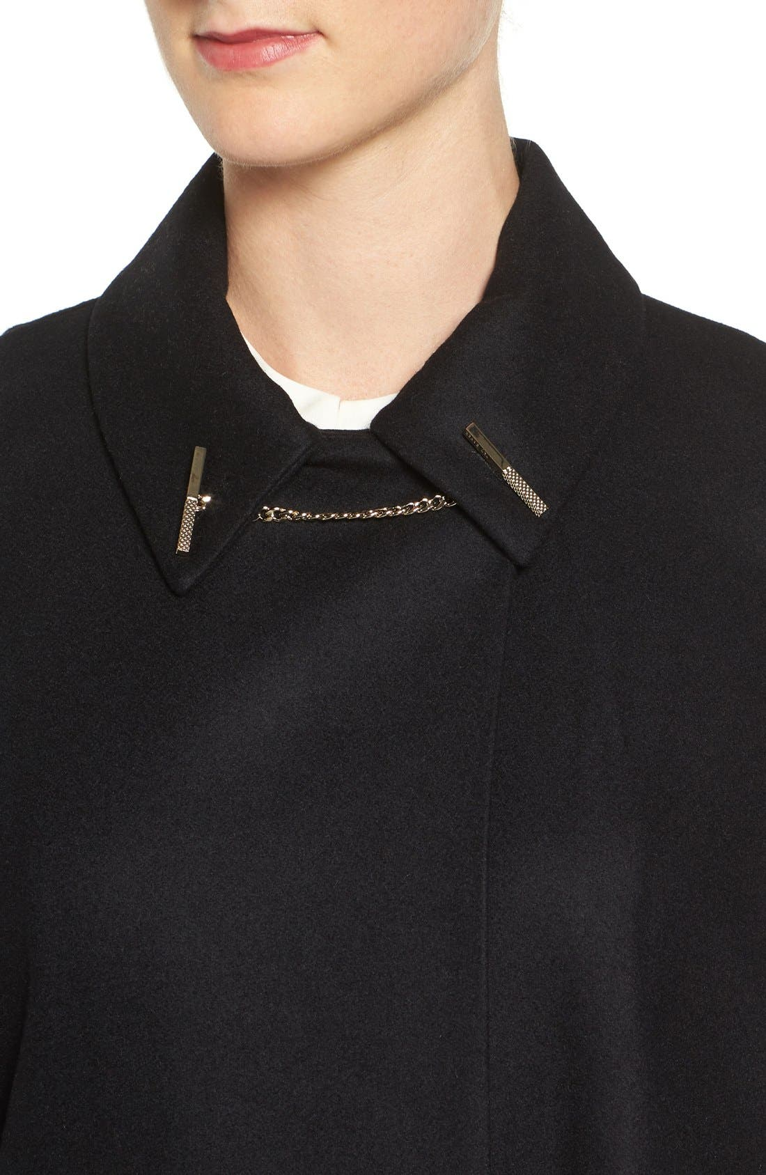 Leisl Chain Collar Cape,                             Alternate thumbnail 4, color,                             001