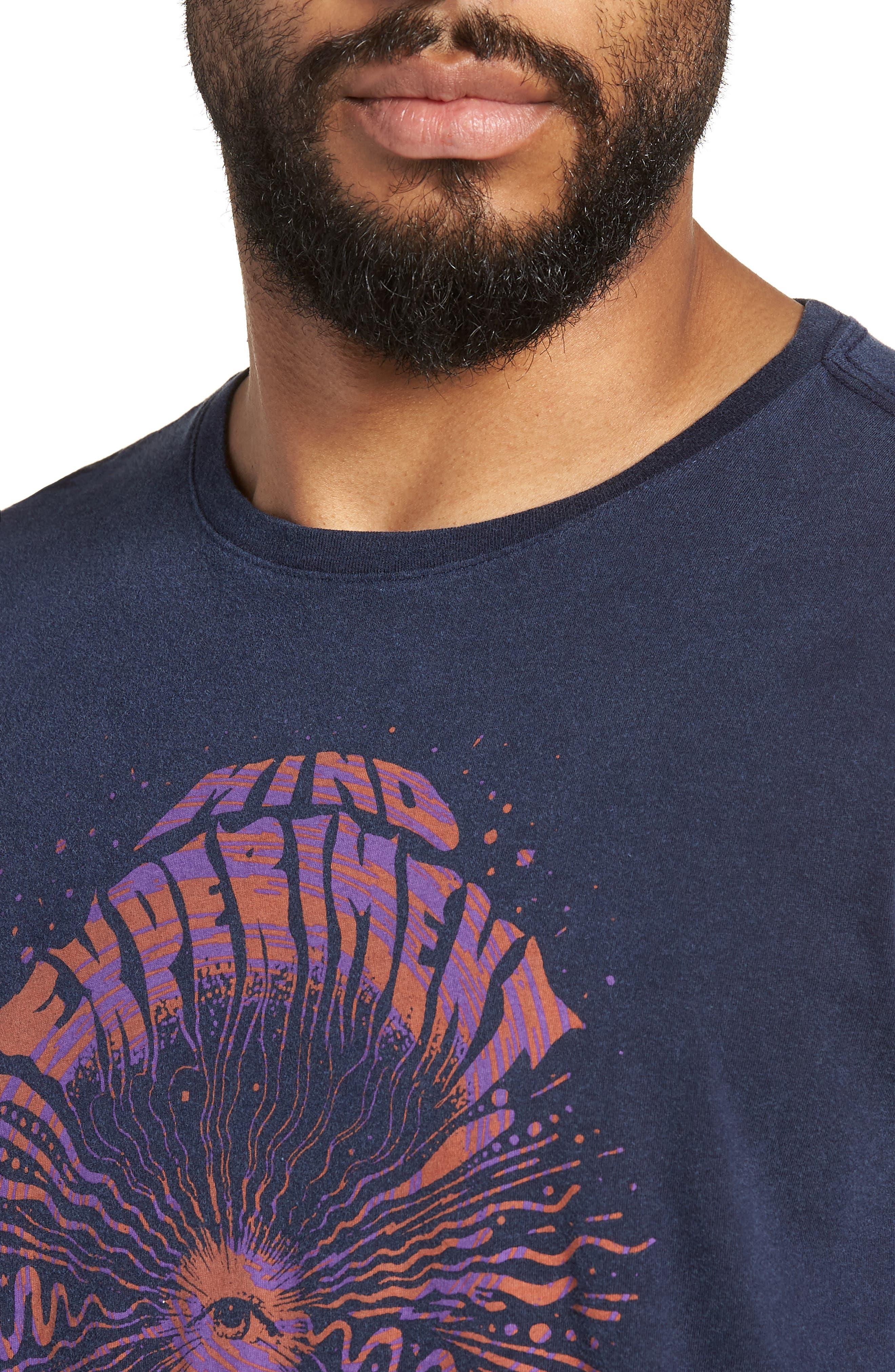 Mind Experiment Graphic T-Shirt,                             Alternate thumbnail 4, color,                             NAVY