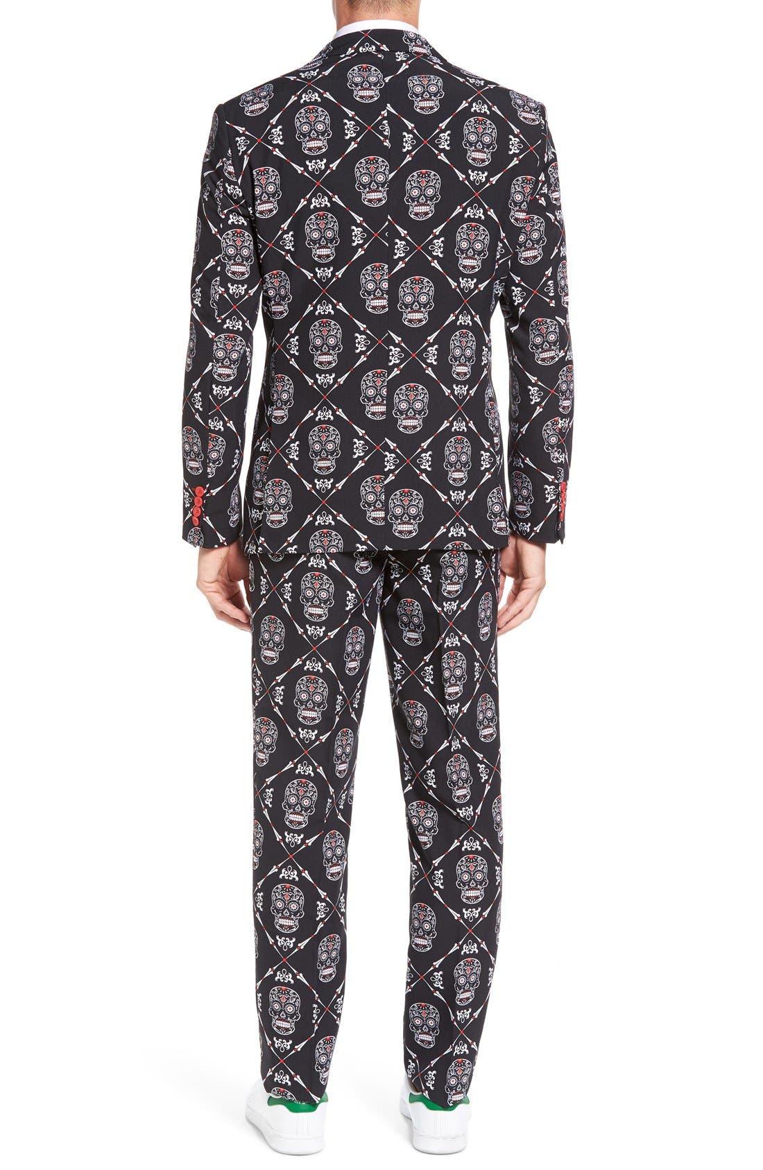 'Haunting Hombre' Trim Fit Suit with Tie,                             Alternate thumbnail 2, color,                             001