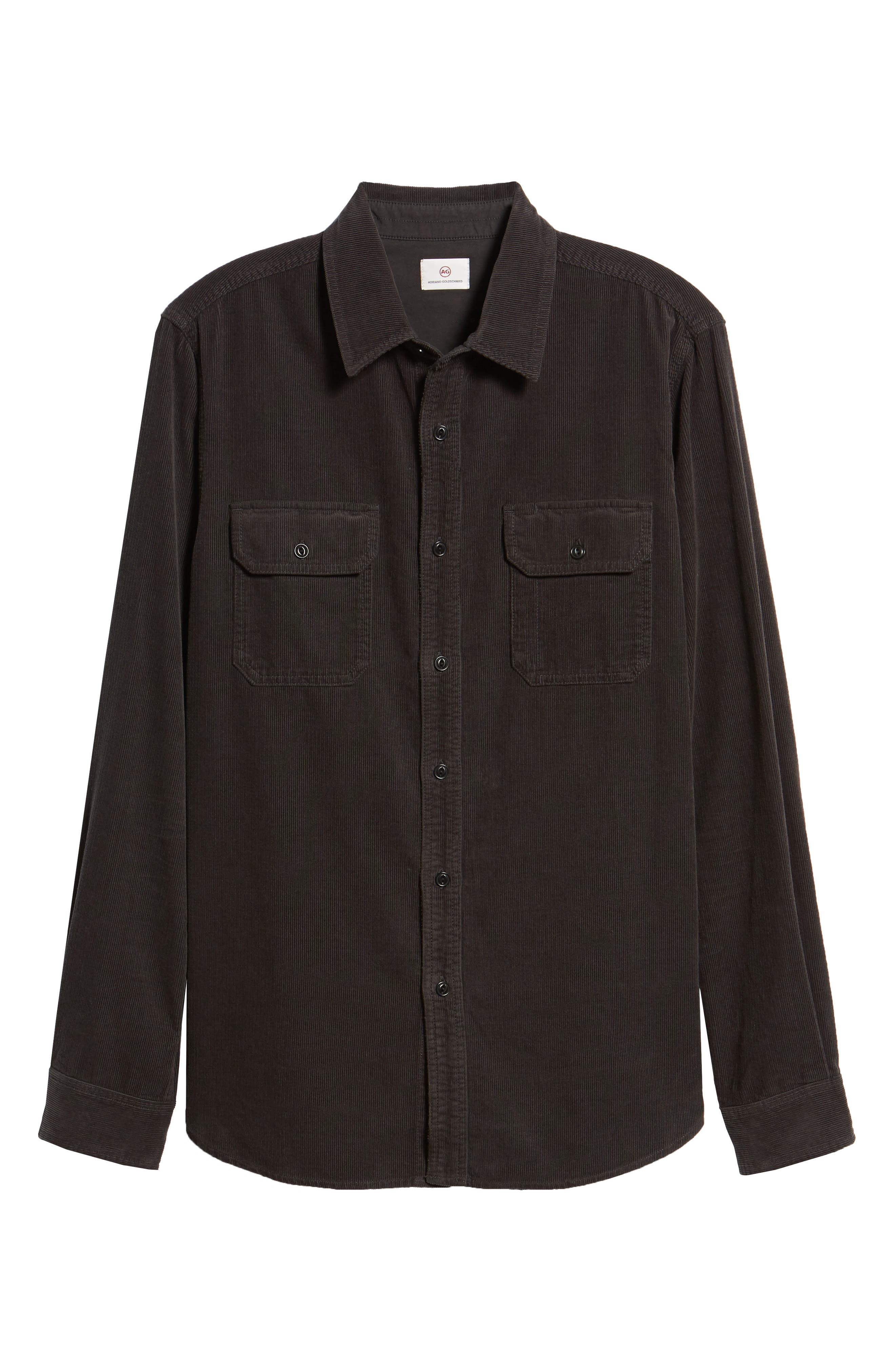 Benning Slim Fit Utility Shirt,                             Alternate thumbnail 5, color,                             GRAY STONE