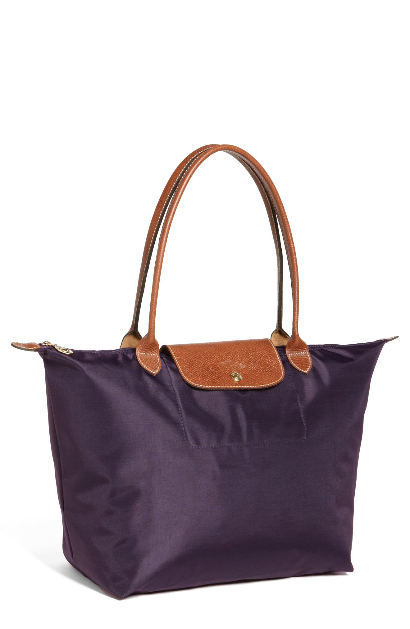 'Large Le Pliage' Tote,                         Main,                         color, BILBERRY