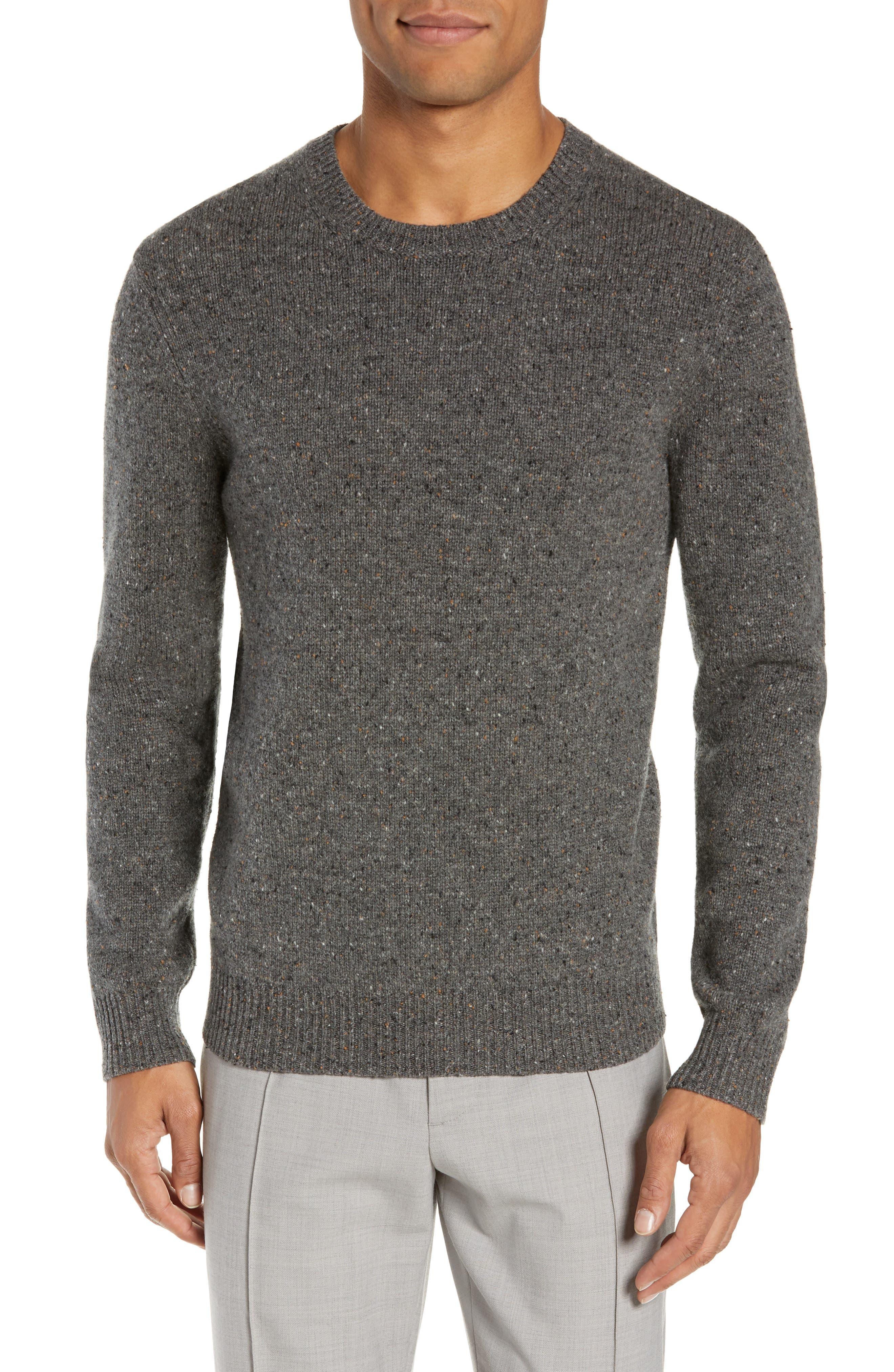 Jaxon Trim Fit Wool Sweater,                         Main,                         color, GREY MULTI