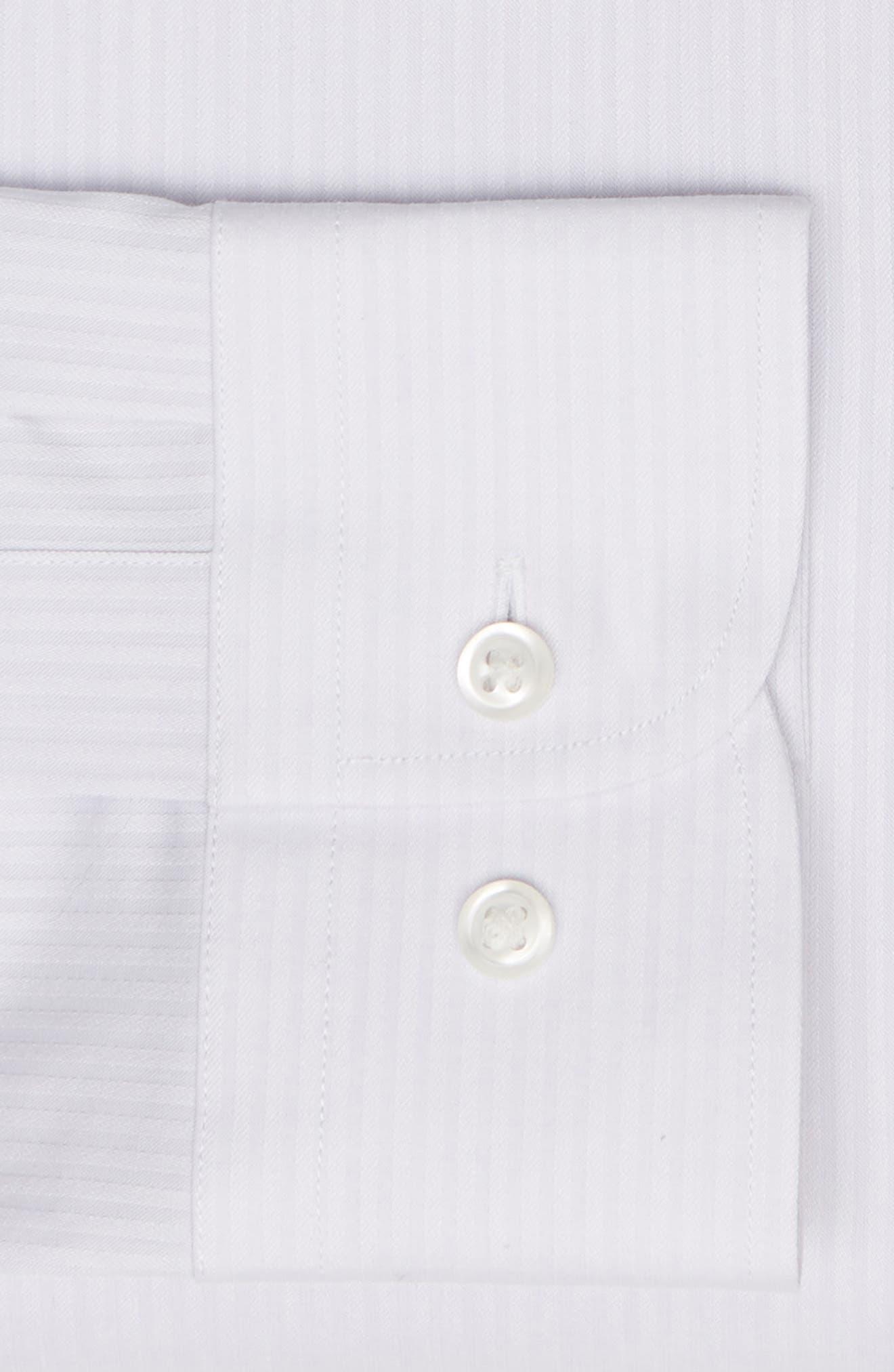 NORDSTROM MEN'S SHOP,                             Tech-Smart Trim Fit Stretch Stripe Dress Shirt,                             Alternate thumbnail 6, color,                             050