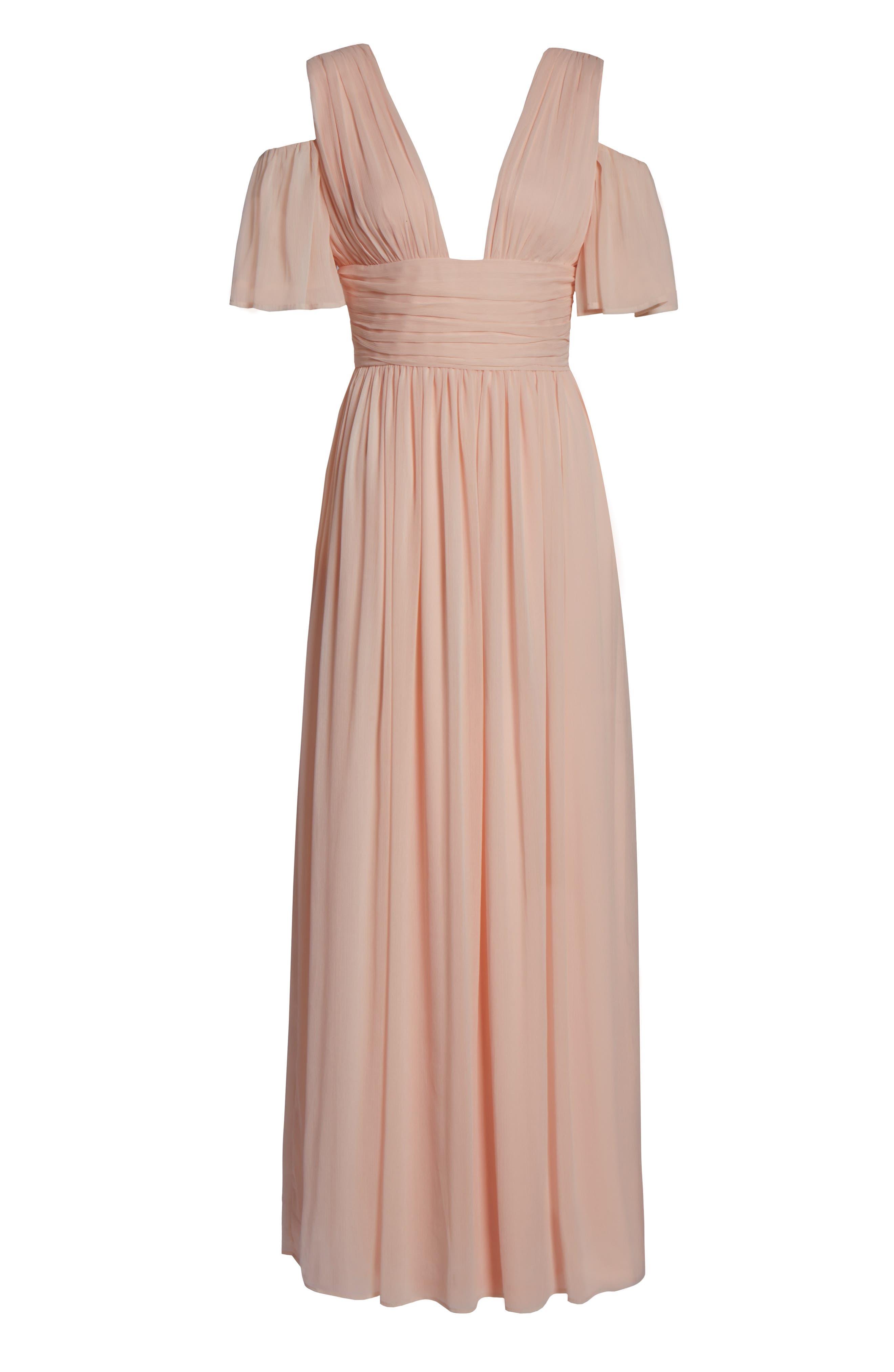 Constance Cold Shoulder Maxi Dress,                             Alternate thumbnail 6, color,                             680