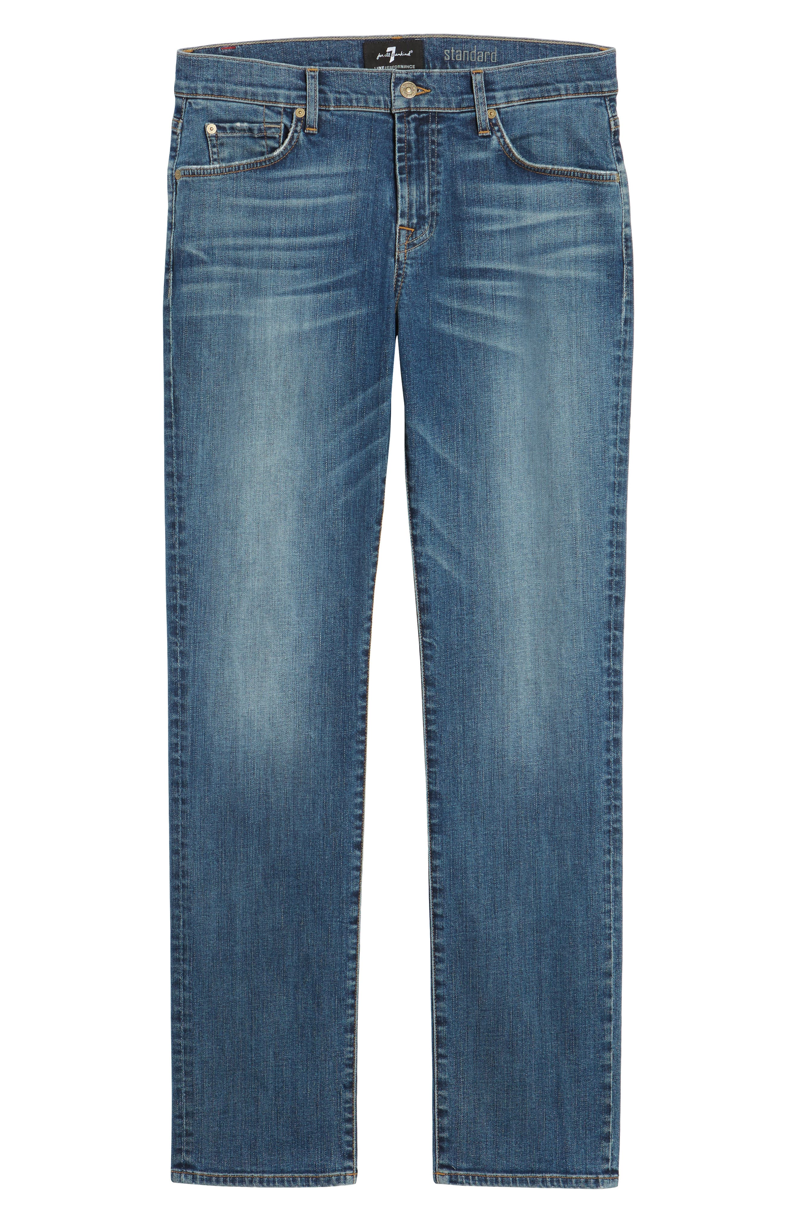 Standard Straight Leg Jeans,                             Alternate thumbnail 6, color,                             BEDROCK
