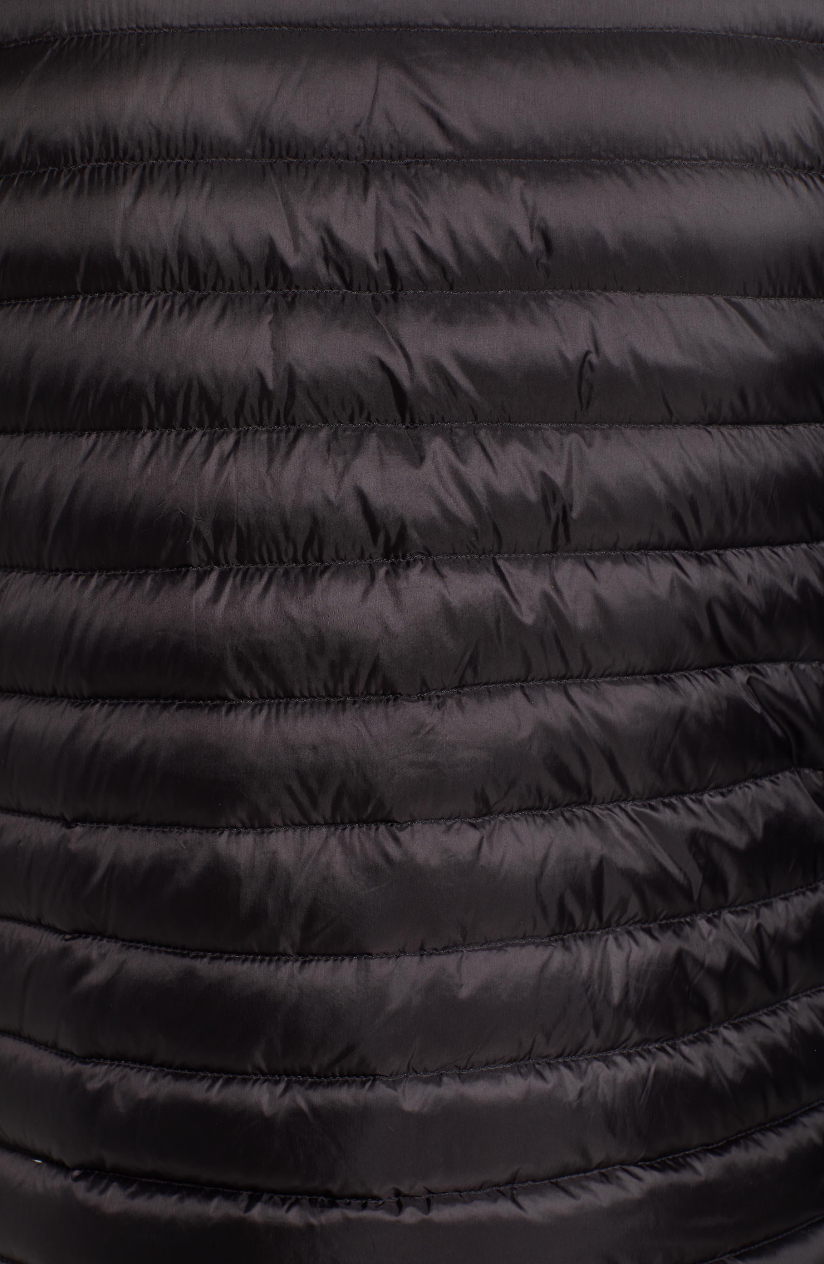Down Puffer Hooded Vest,                             Alternate thumbnail 6, color,                             BLACK