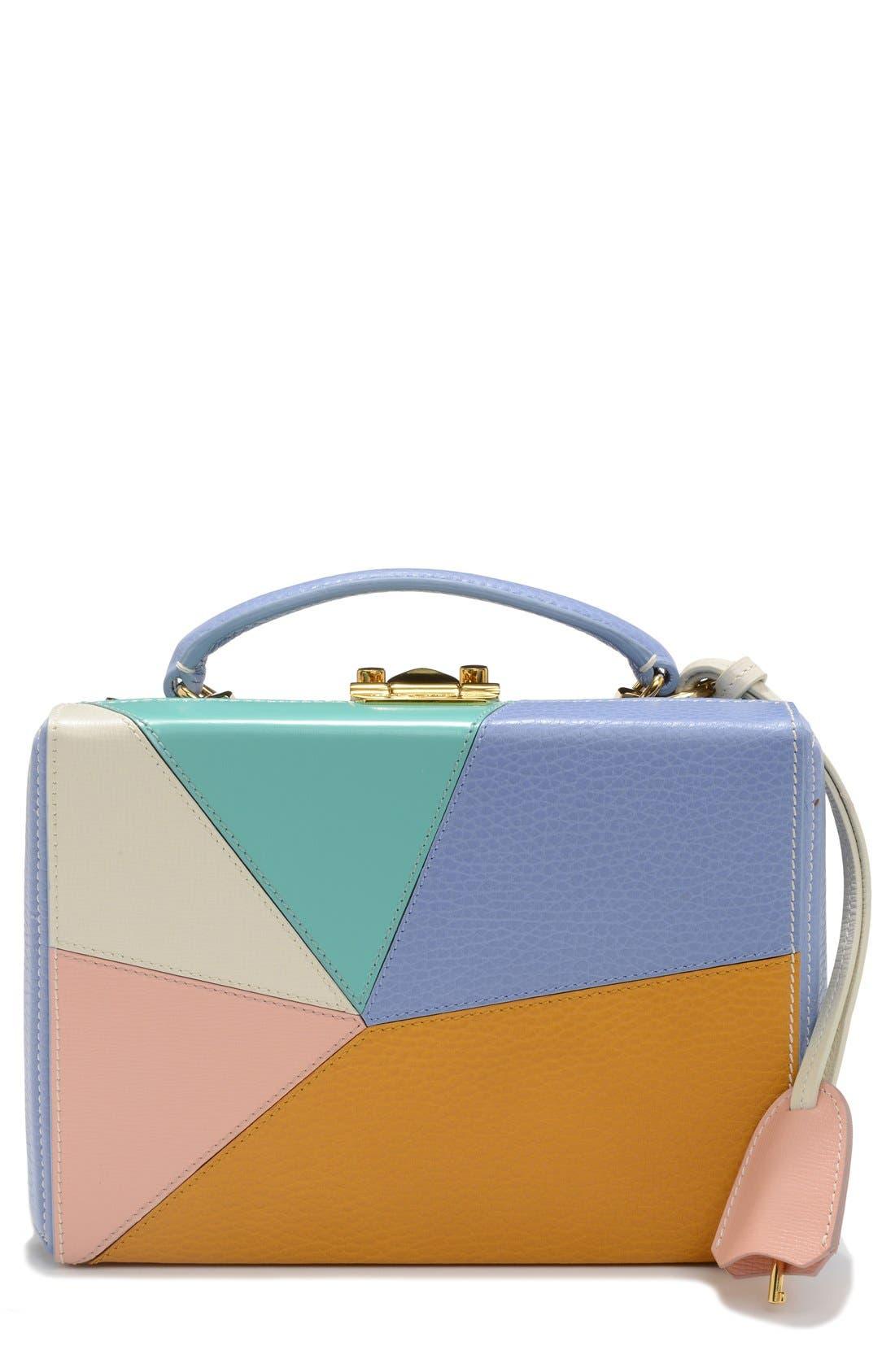 MARK CROSS,                             'Small Grace - Kaleidoscope' Leather Box Bag,                             Main thumbnail 1, color,                             400
