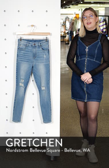 Brie High Waist Ripped Skinny Jeans, sales video thumbnail