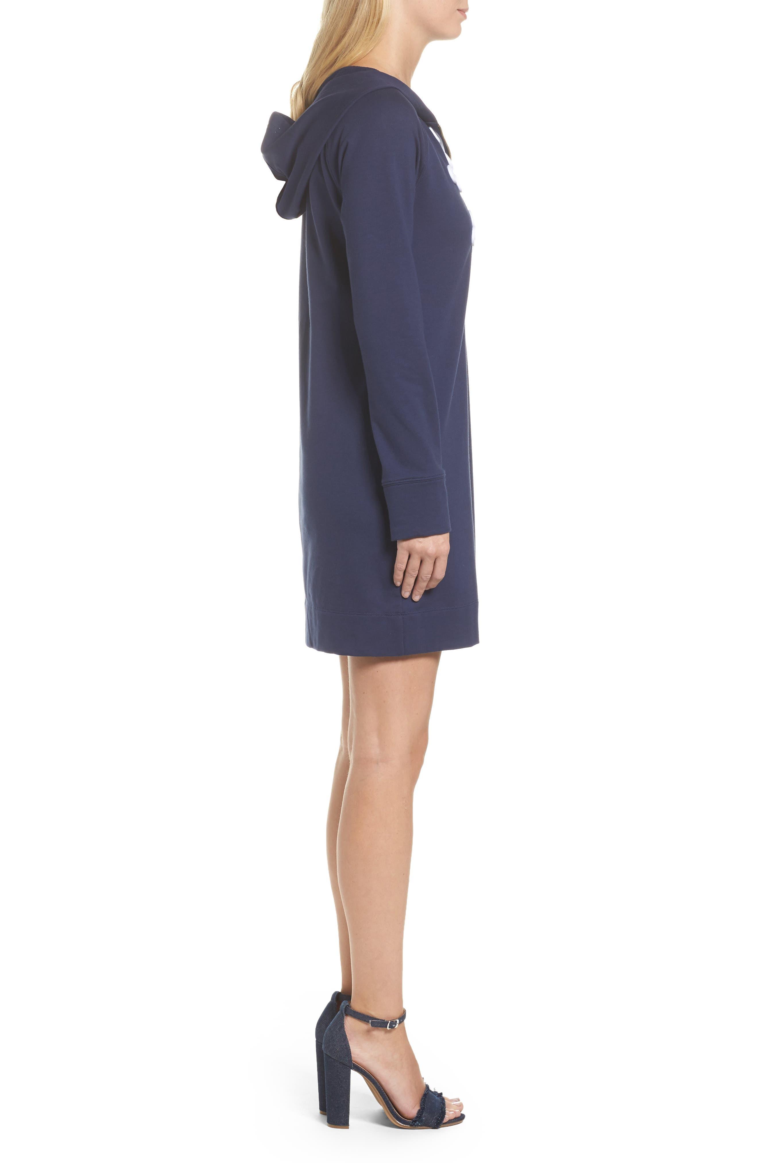 Skipper UPF 50+ Hooded Shift Dress,                             Alternate thumbnail 3, color,