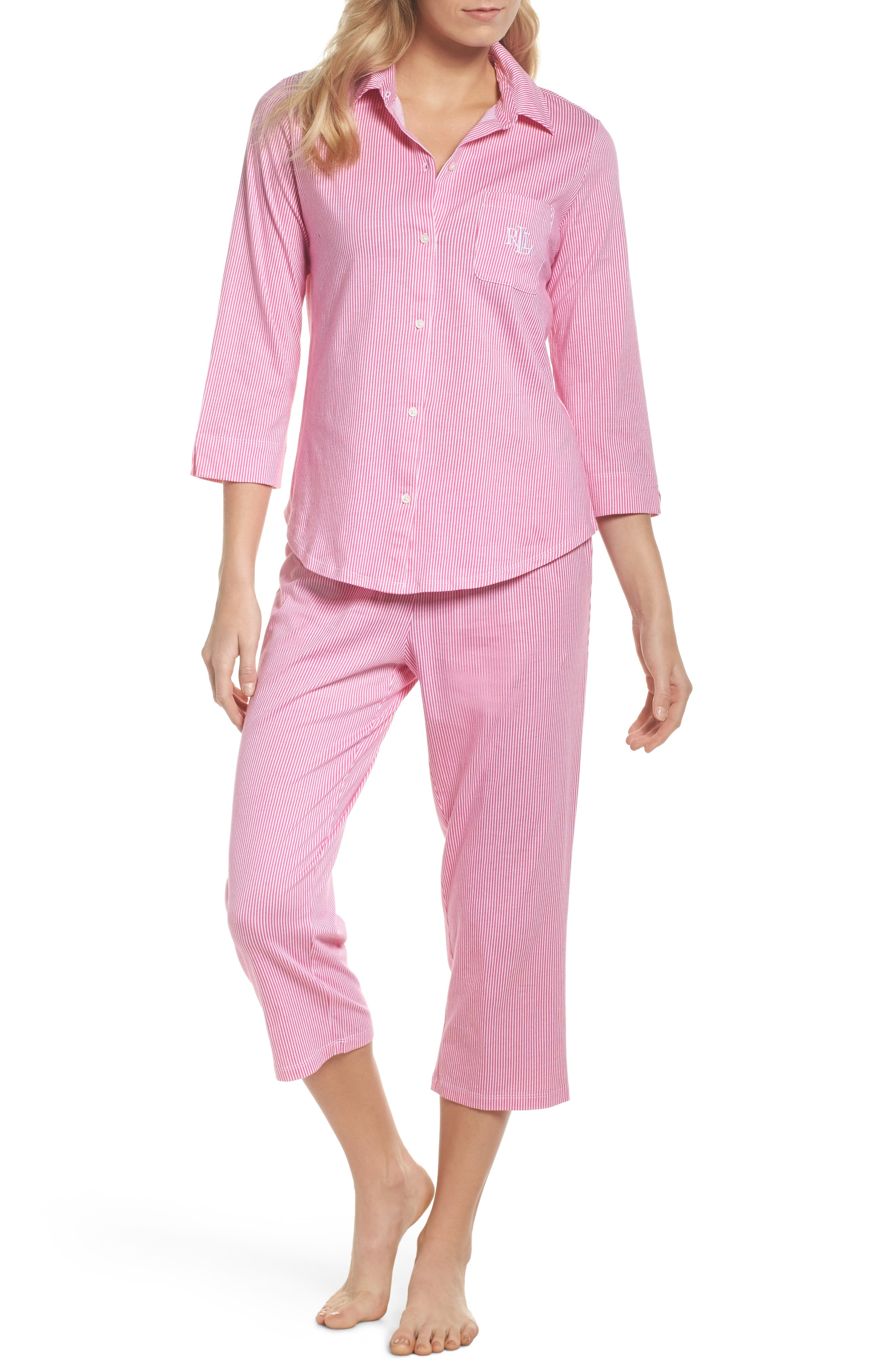 Crop Pajamas,                             Main thumbnail 2, color,