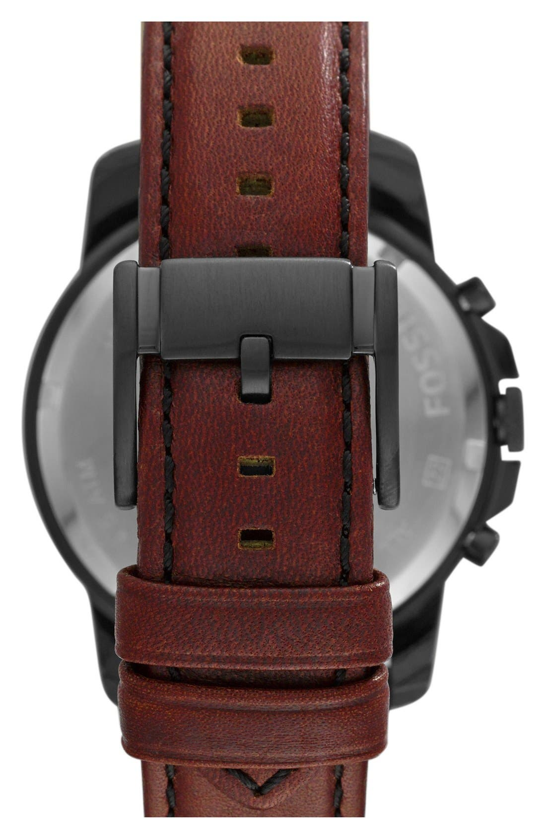 'Grant' Round Chronograph Leather Strap Watch, 44mm,                             Alternate thumbnail 72, color,