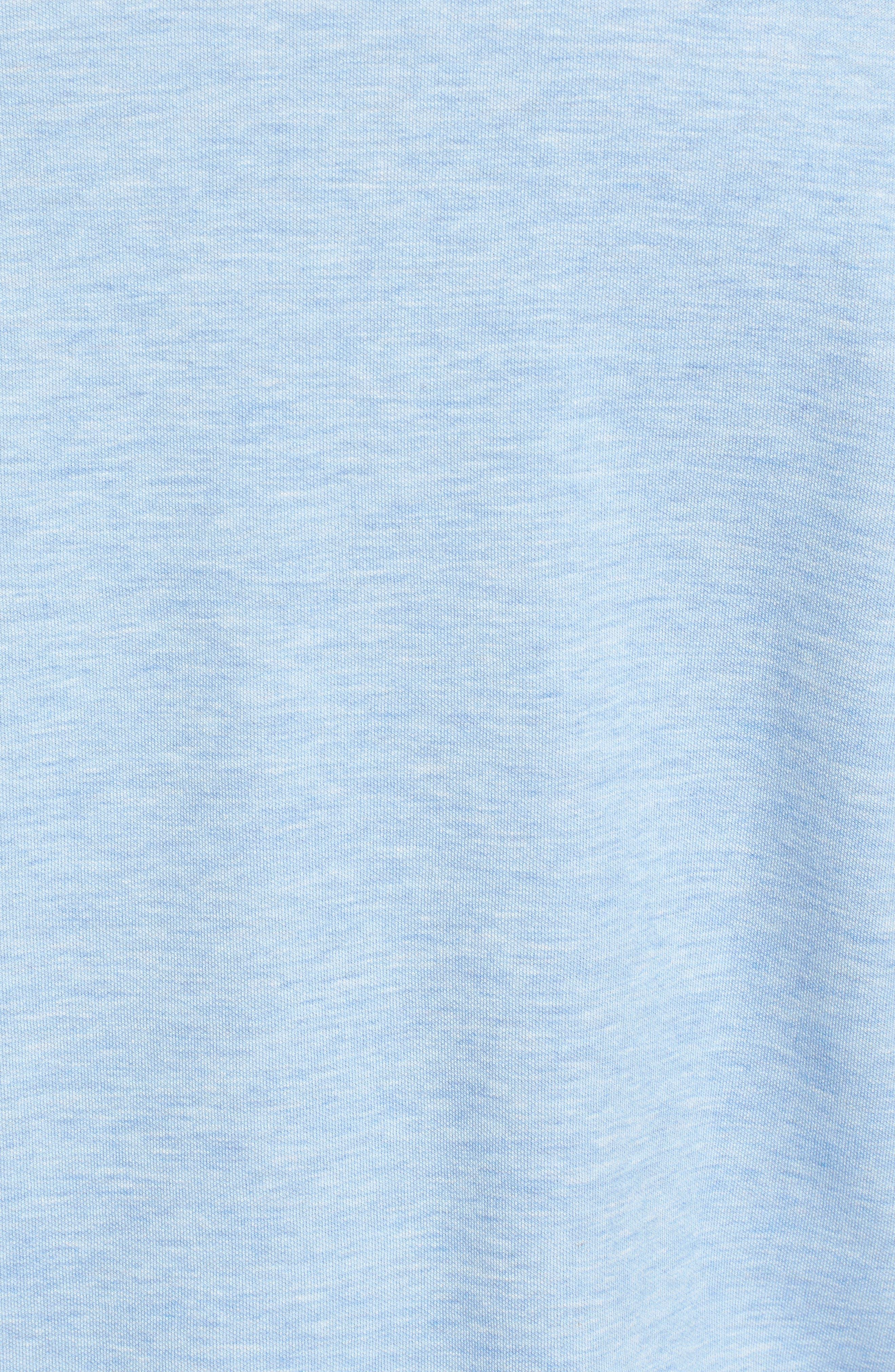 Crown Comfort Jersey Quarter Zip Pullover,                             Alternate thumbnail 5, color,                             COTTAGE BLUE