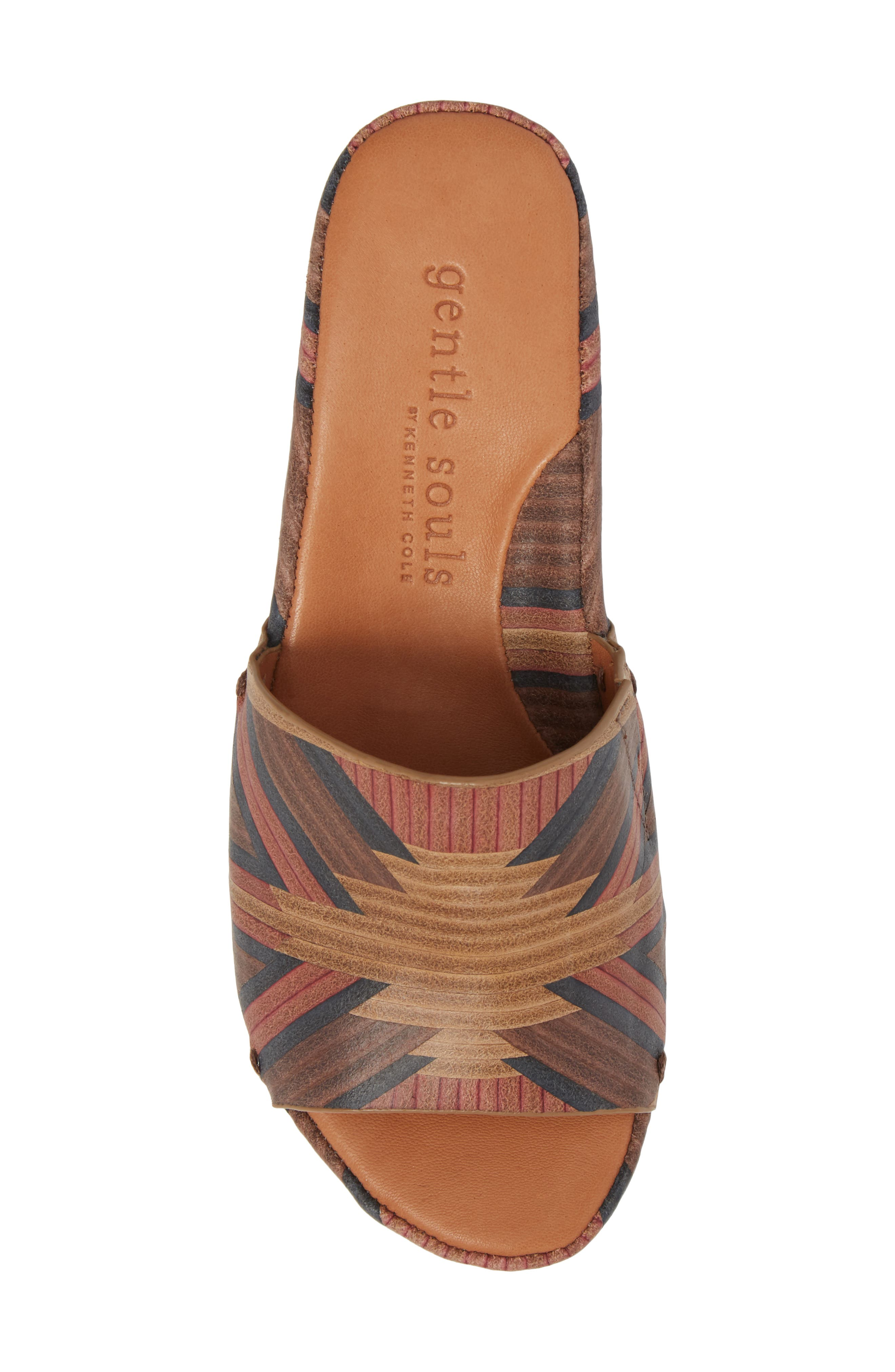 by Kenneth Cole Forella Slide Sandal,                             Alternate thumbnail 5, color,                             BROWN MULTI LEATHER