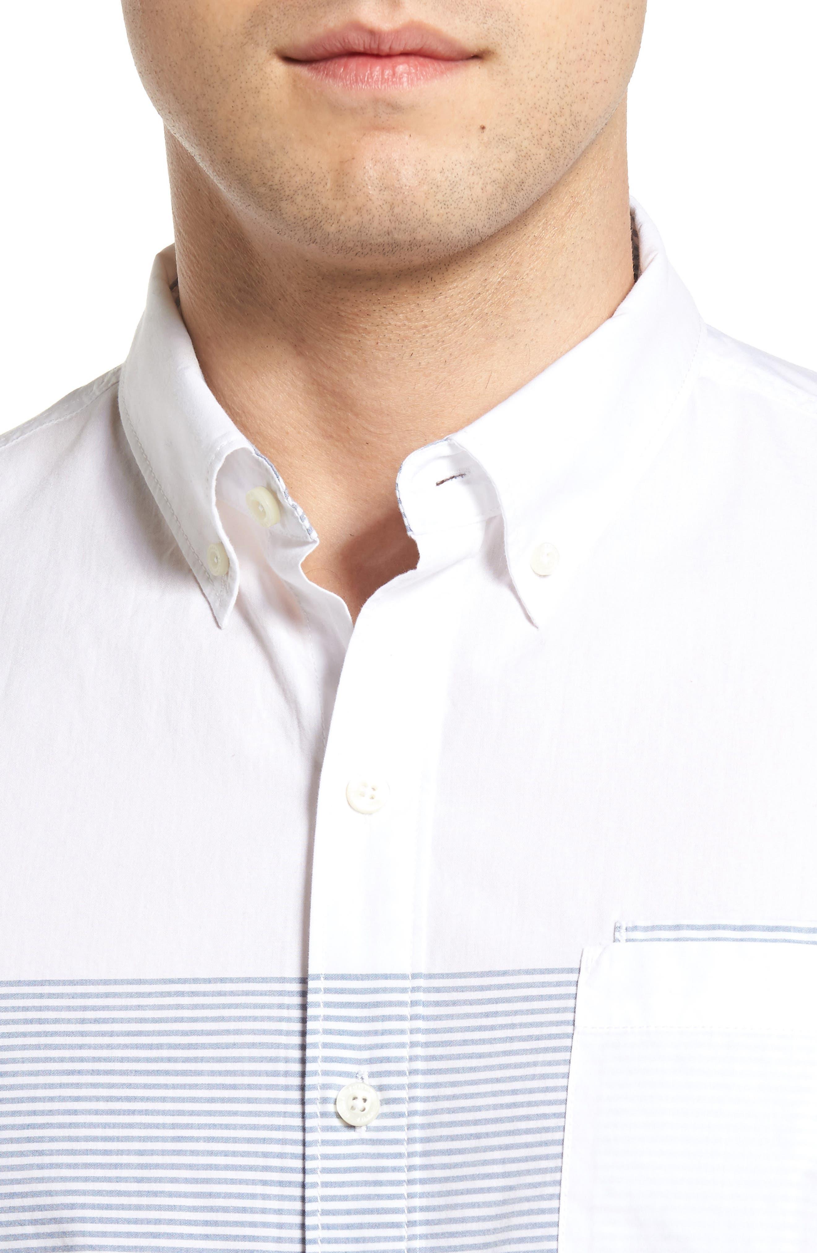 The Yachtsman Standard Fit Cotton Sport Shirt,                             Alternate thumbnail 4, color,                             100