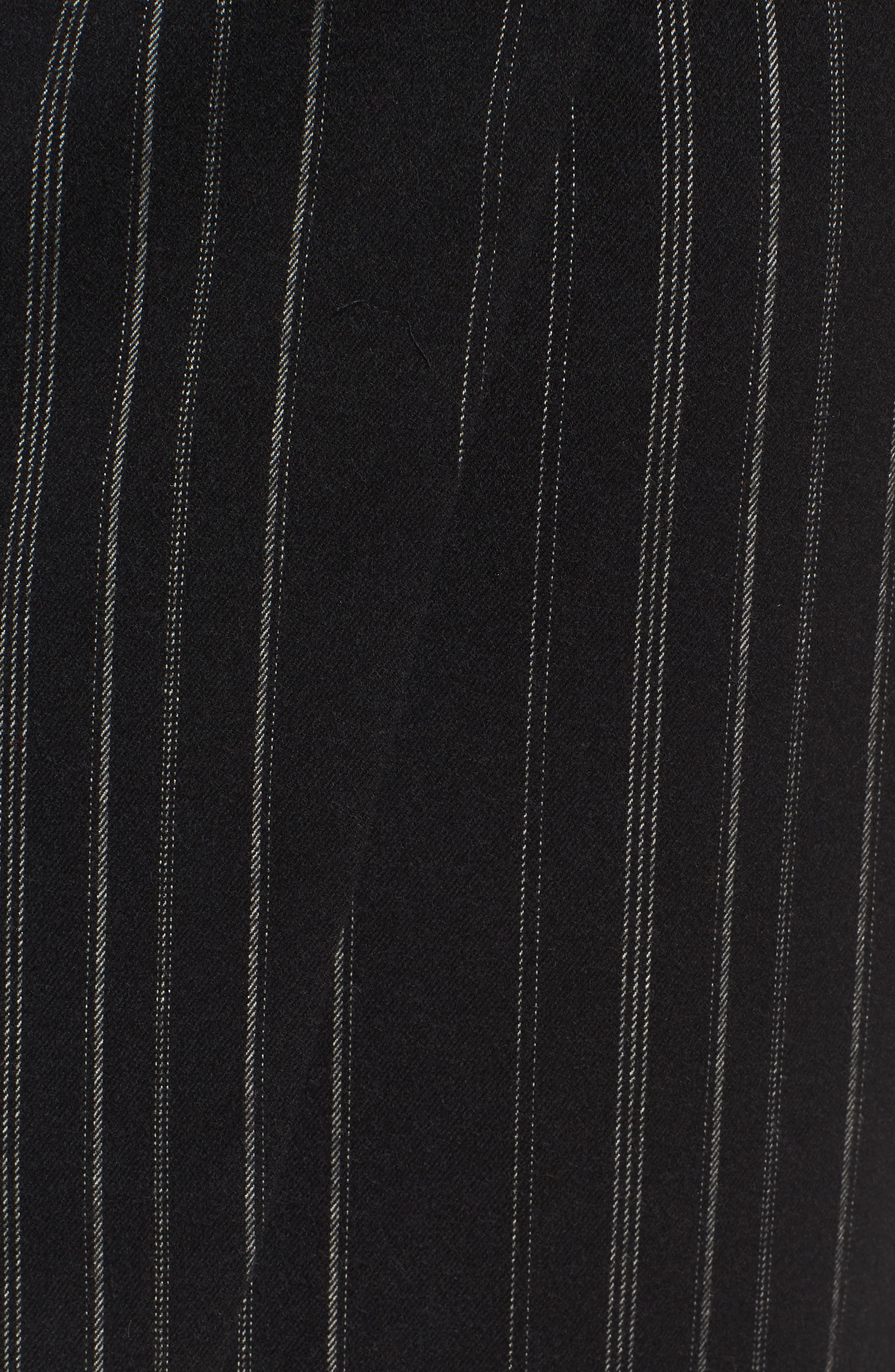 Side Tie Midi Skirt,                             Alternate thumbnail 5, color,                             001