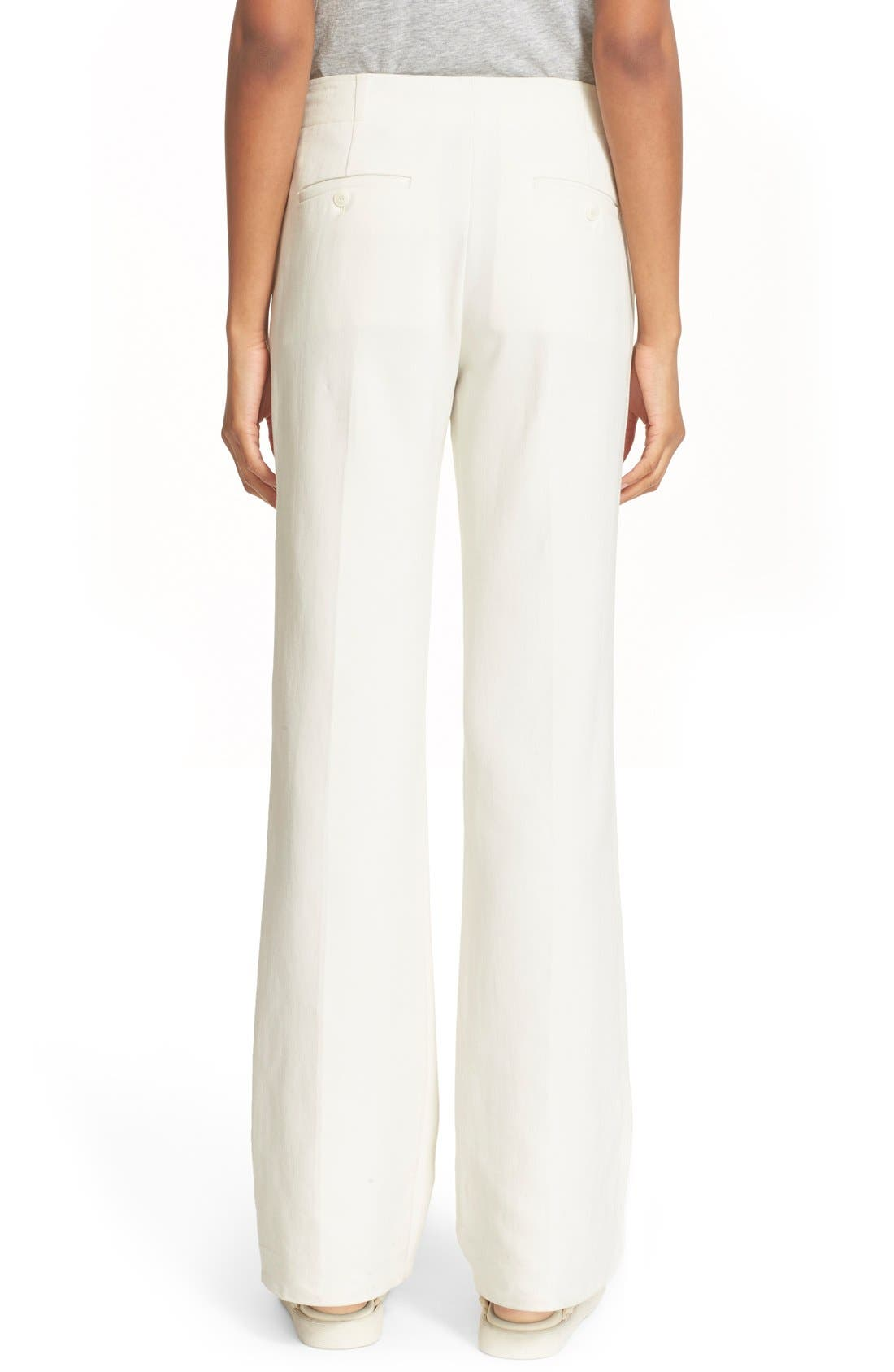 Cotton Flare Pants,                             Alternate thumbnail 4, color,                             900