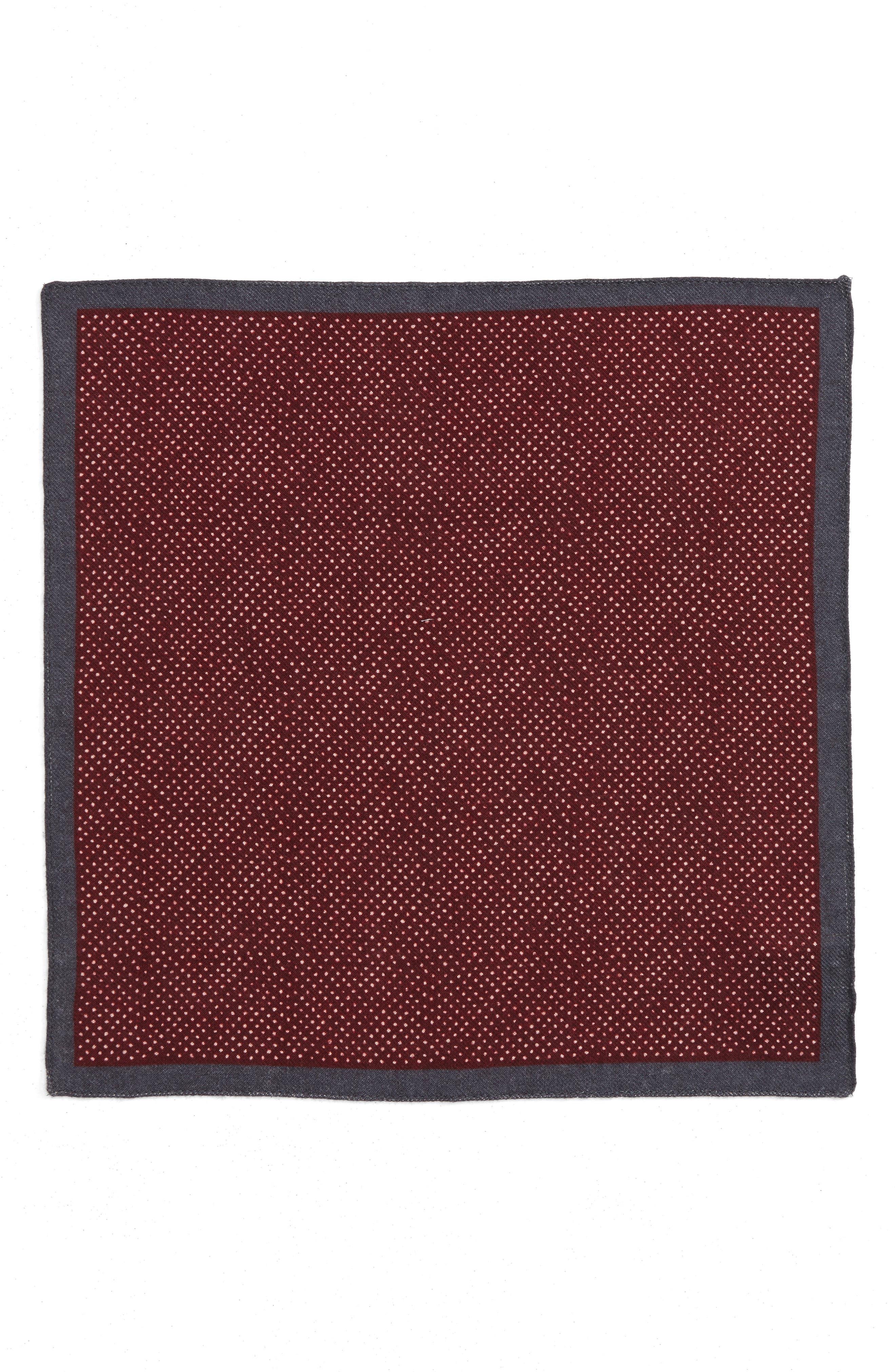 Dot Wool Pocket Square,                             Alternate thumbnail 4, color,