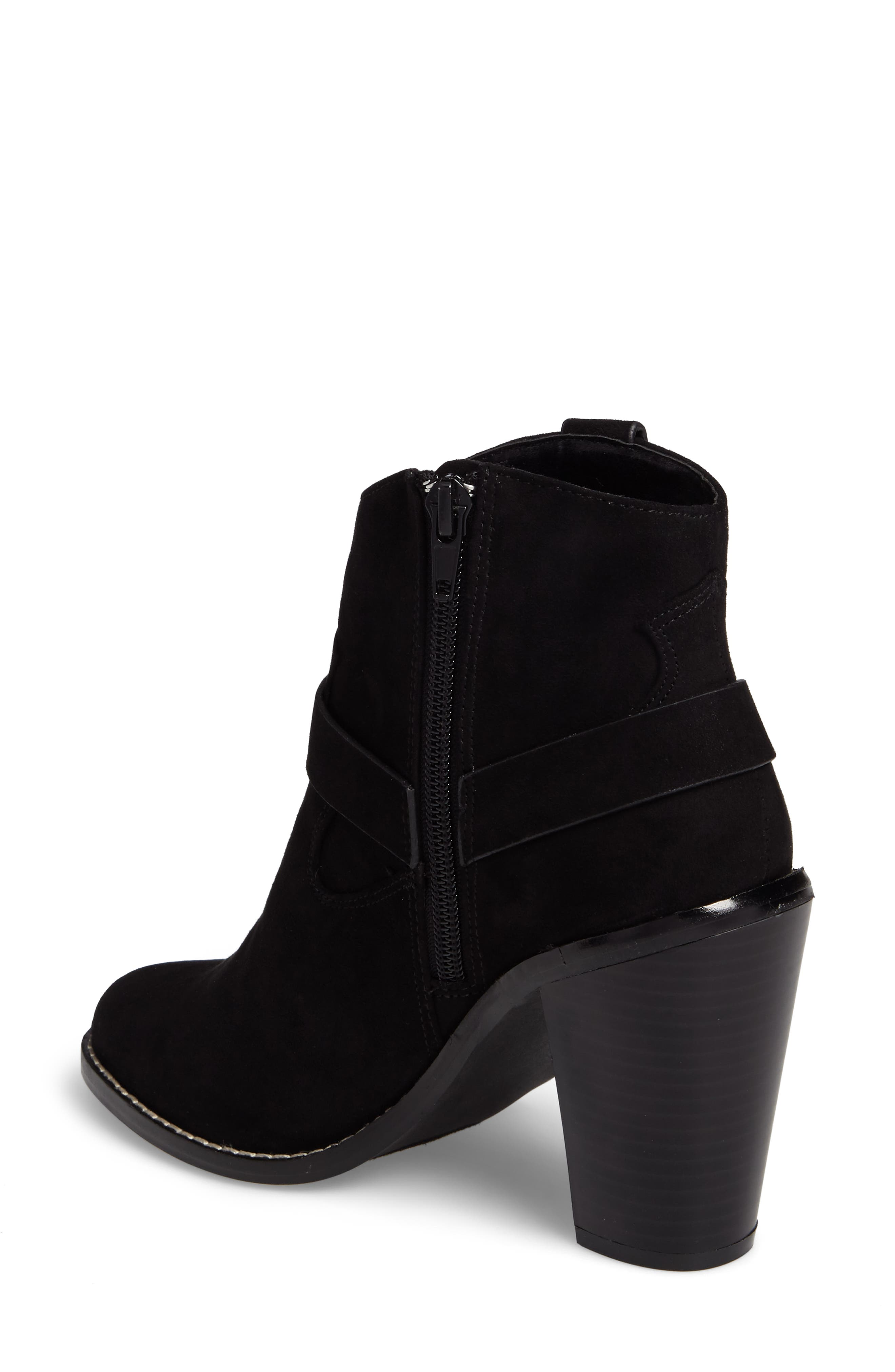 Fancye Ringed Ankle Strap Bootie,                             Alternate thumbnail 2, color,                             BLACK SYNTHETIC