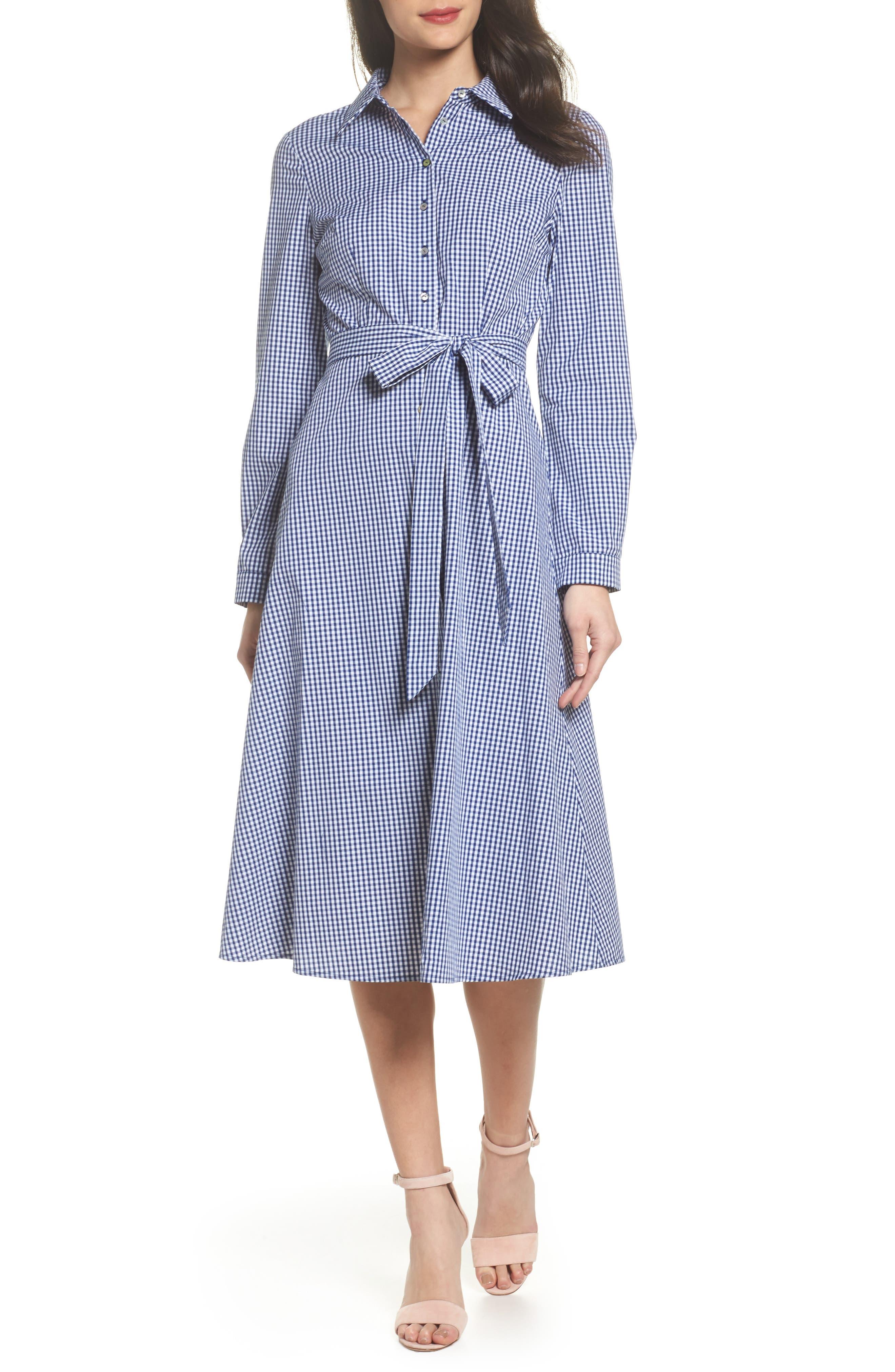 Ayla Midi Shirtdress,                         Main,                         color, 413