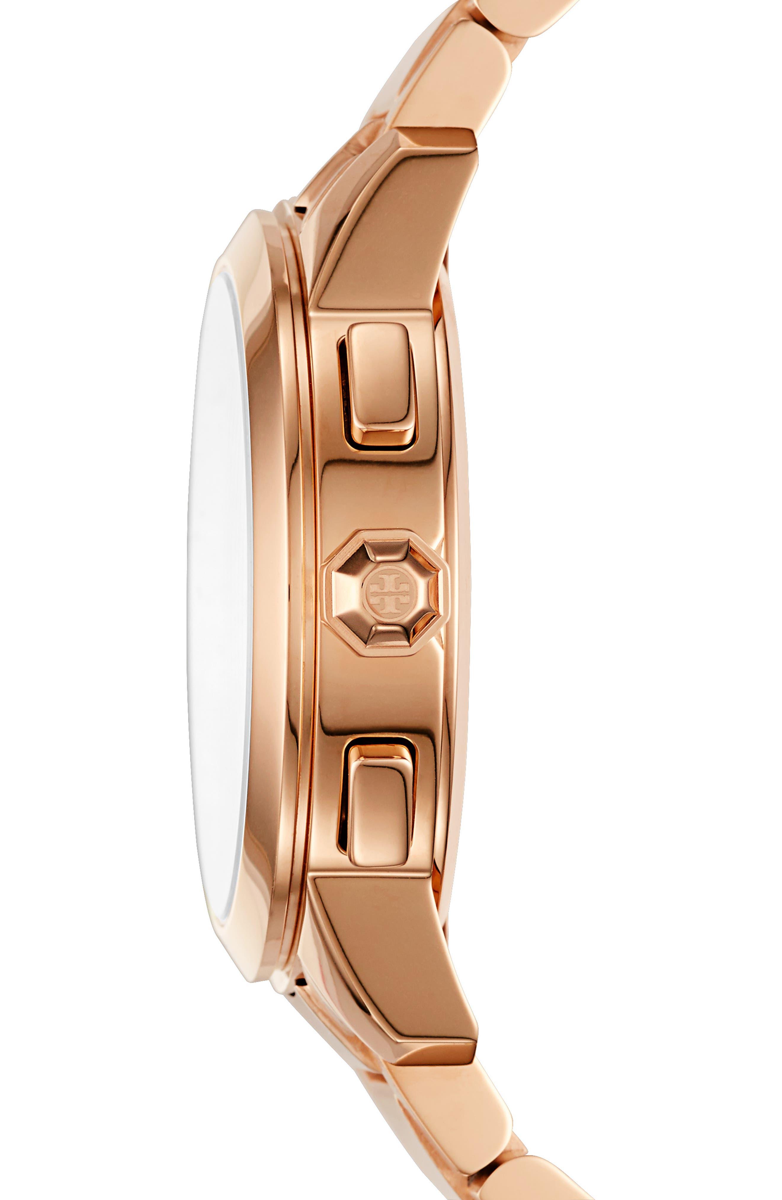 Collins Chronograph Bracelet Watch, 42mm,                             Alternate thumbnail 3, color,                             710