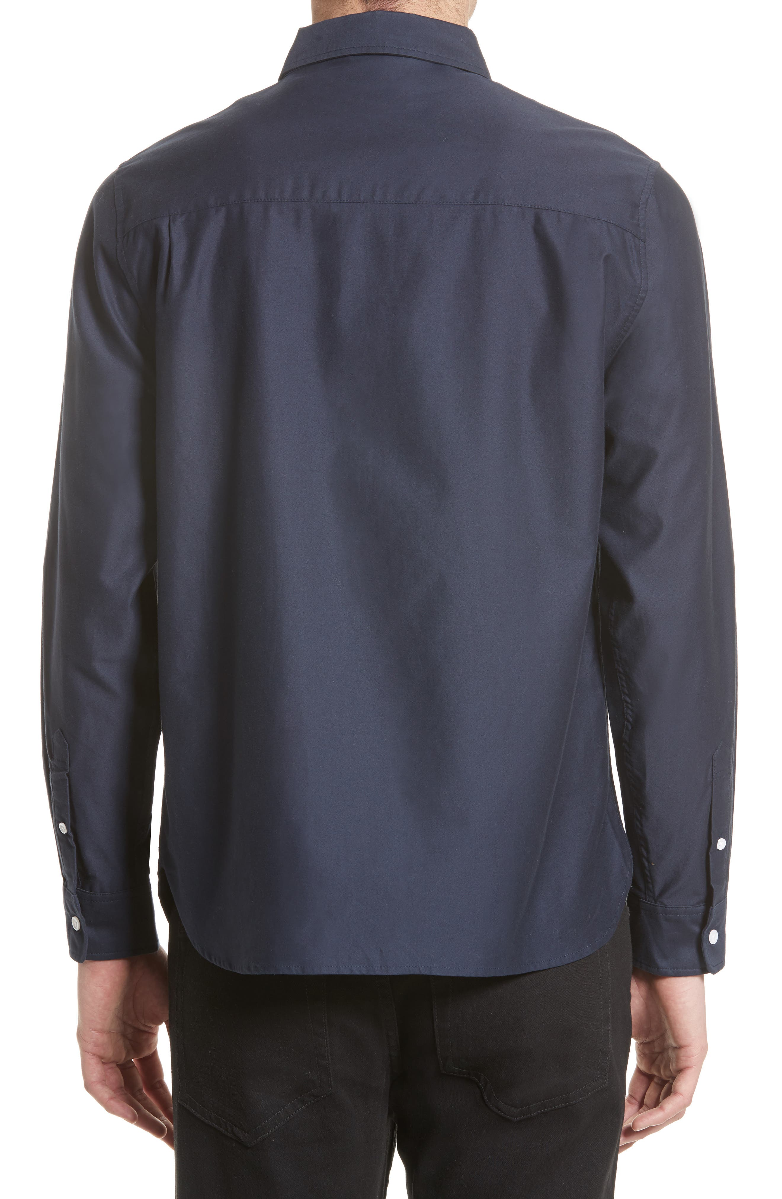 Mickey Concealed Button Sport Shirt,                             Alternate thumbnail 3, color,                             401