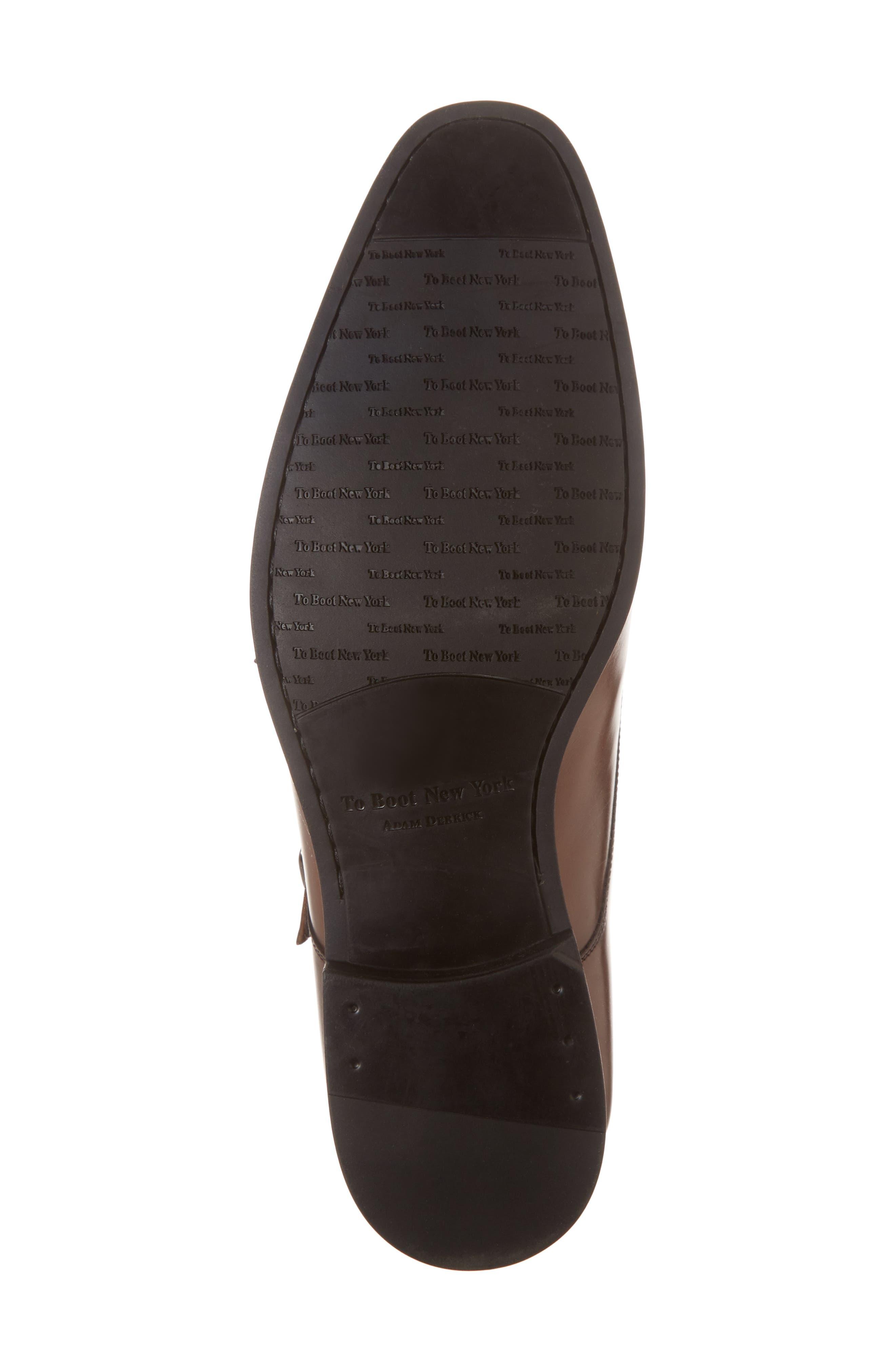 Benjamin Double Monk Strap Shoe,                             Alternate thumbnail 6, color,                             TMORO LEATHER