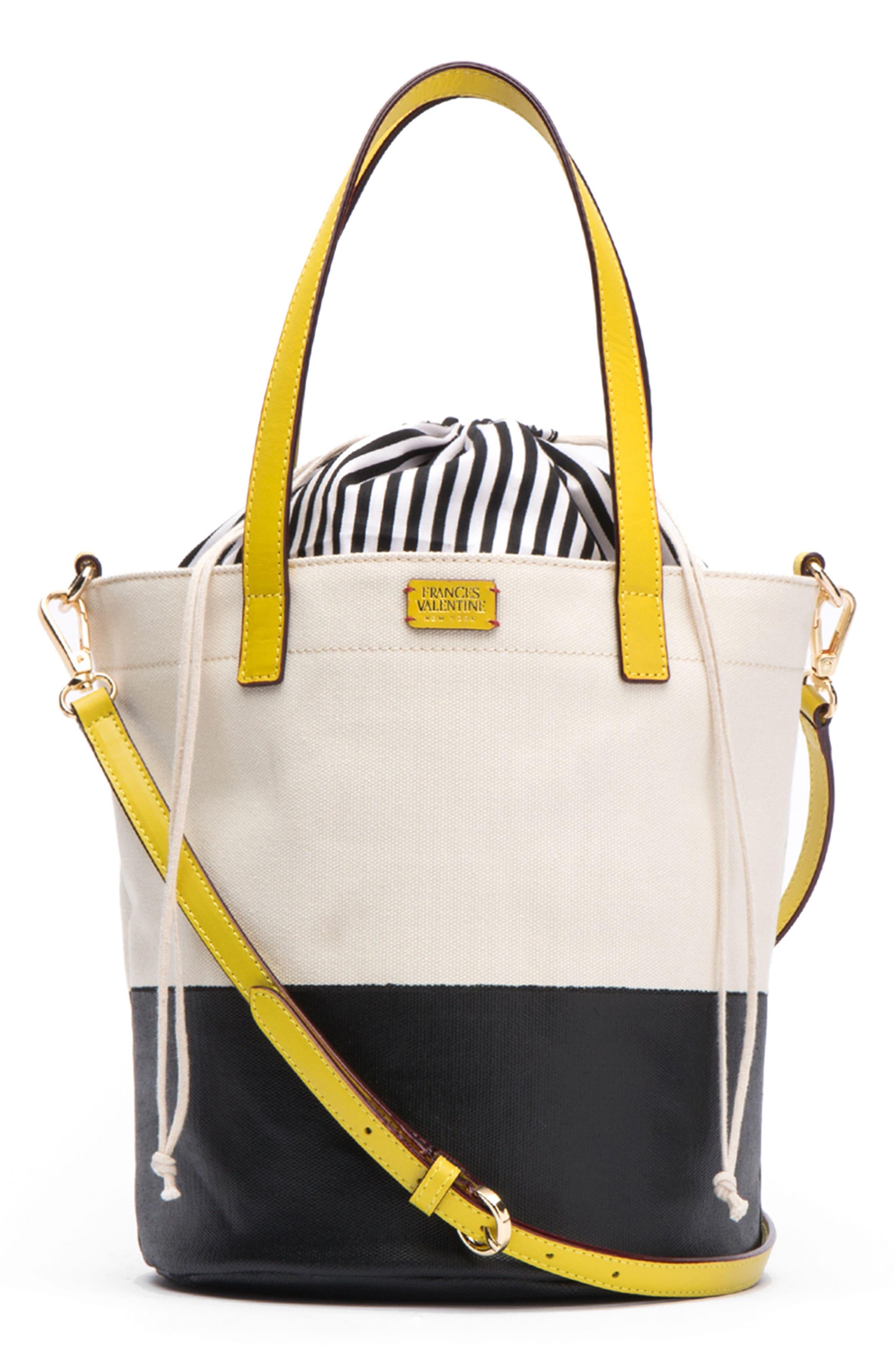 Small Canvas Bucket Bag,                             Main thumbnail 2, color,