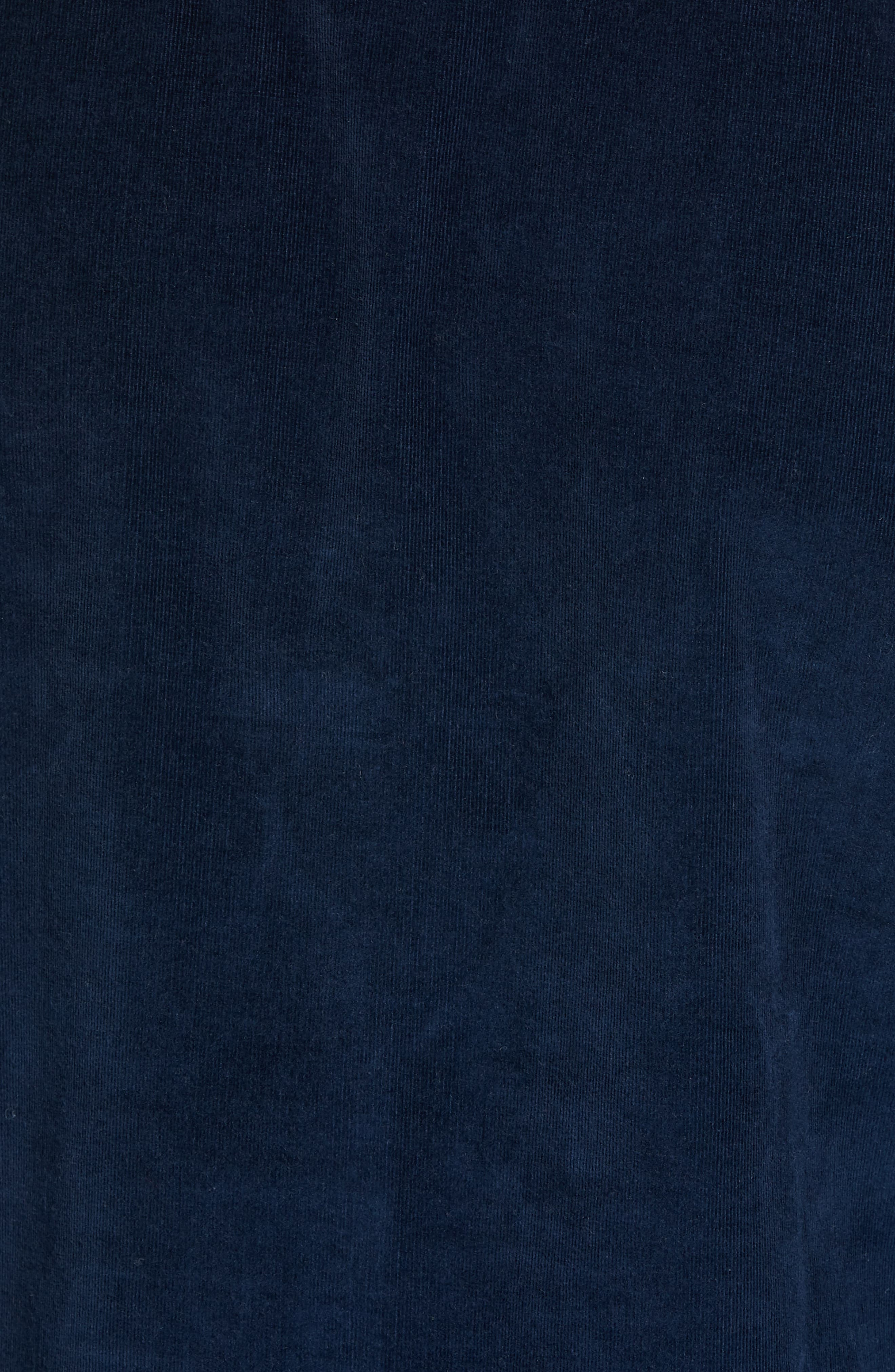 Ivy Trim Fit Corduroy Sport Shirt,                             Alternate thumbnail 5, color,                             NAVY NIGHT