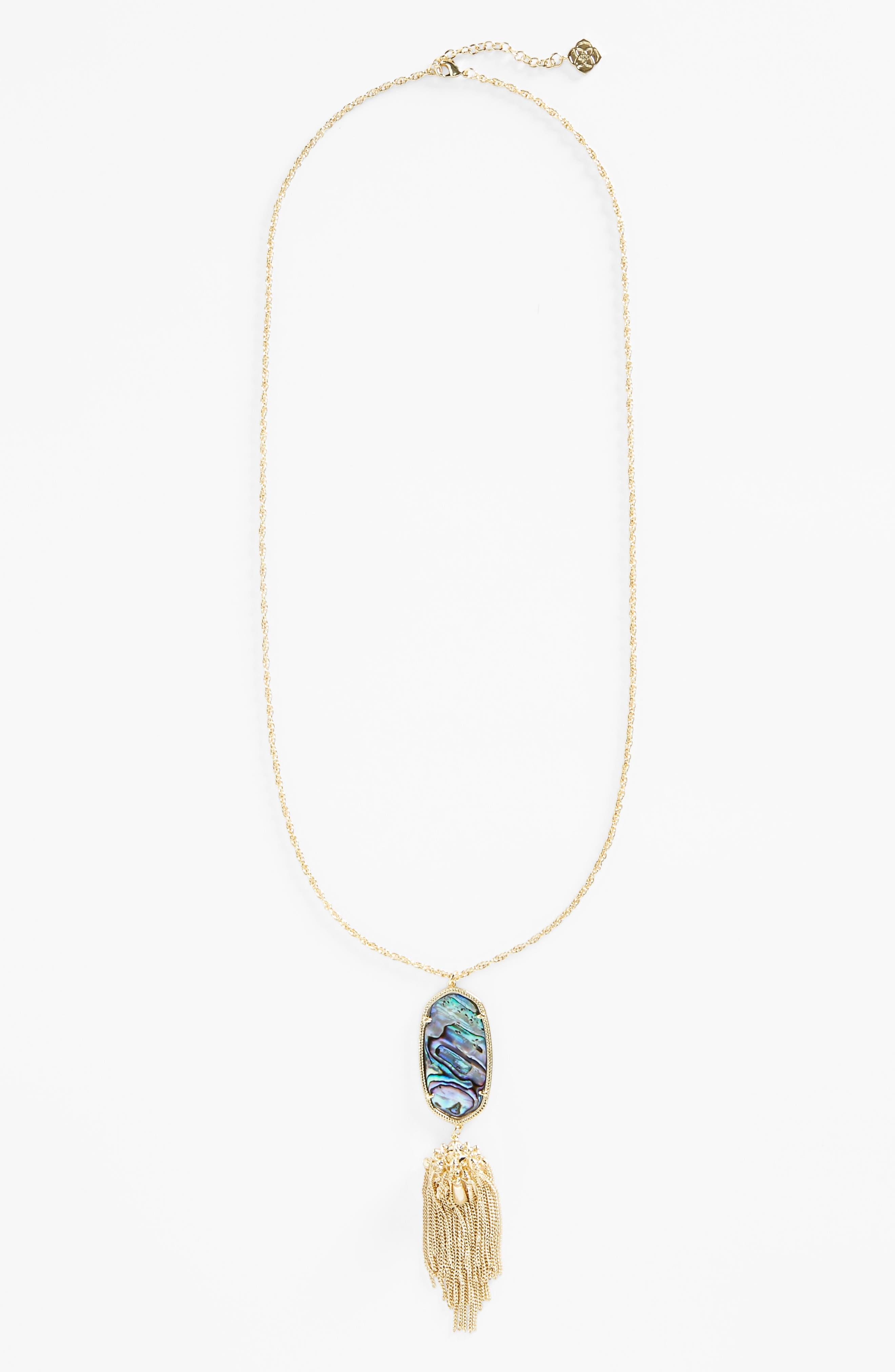 Rayne Stone Tassel Pendant Necklace,                             Alternate thumbnail 167, color,