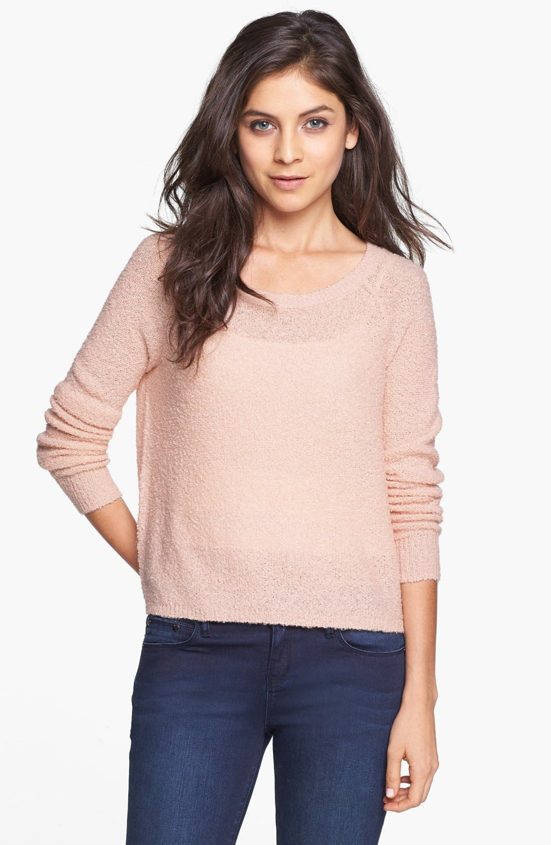 'Grunge' Textured Sweater,                             Main thumbnail 12, color,