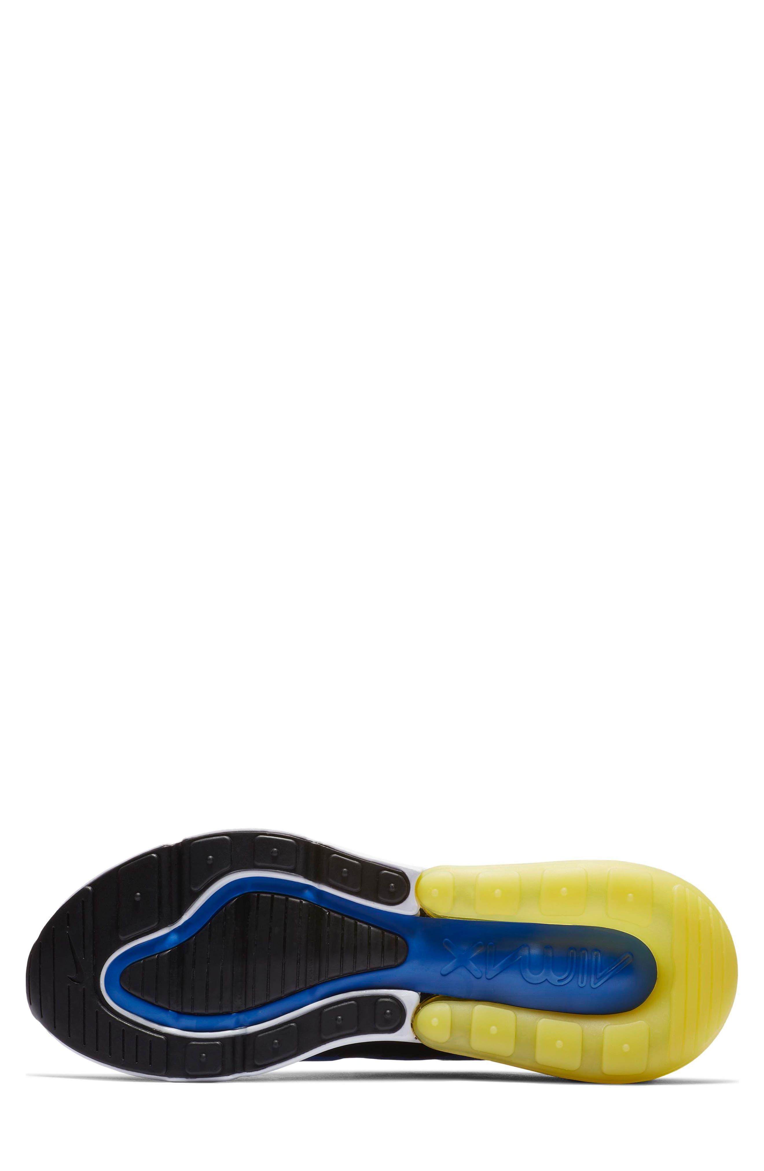 Air Max 270 Sneaker,                             Alternate thumbnail 4, color,                             GAME ROYAL/ WHITE/ BLACK