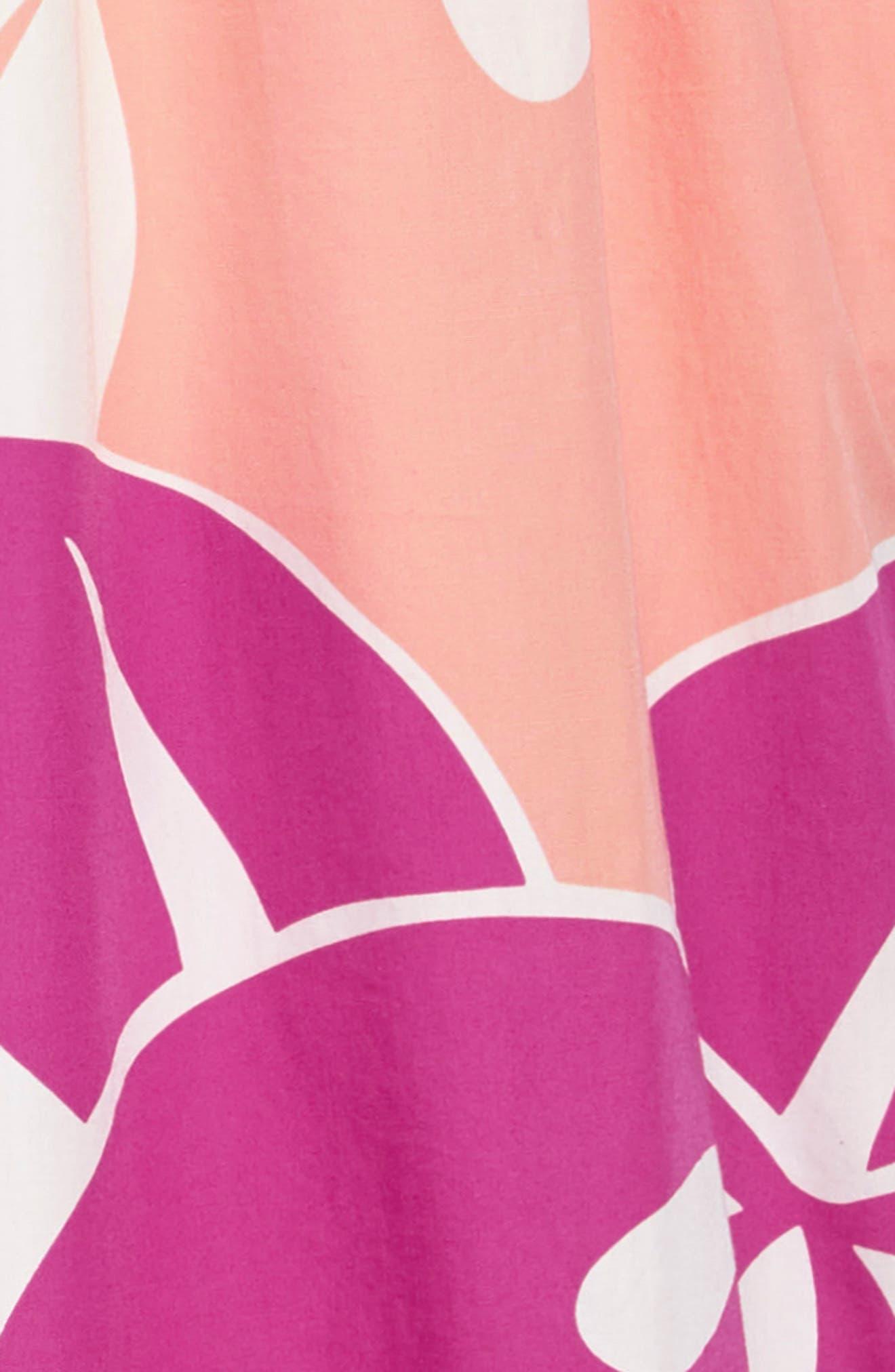Ruffle Neck Dress,                             Alternate thumbnail 6, color,